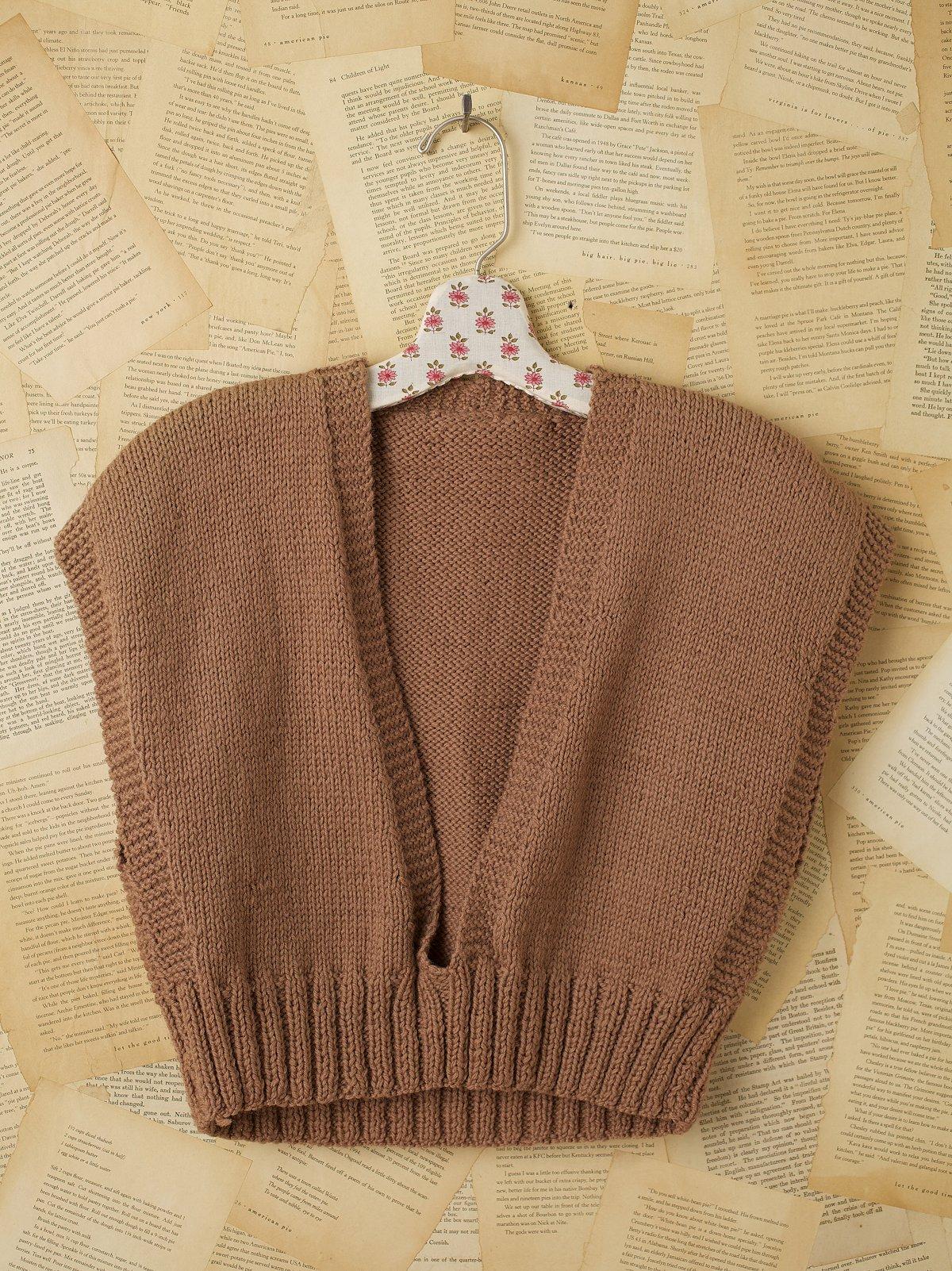 Vintage 1950s Paperbag Brown Sweater Vest