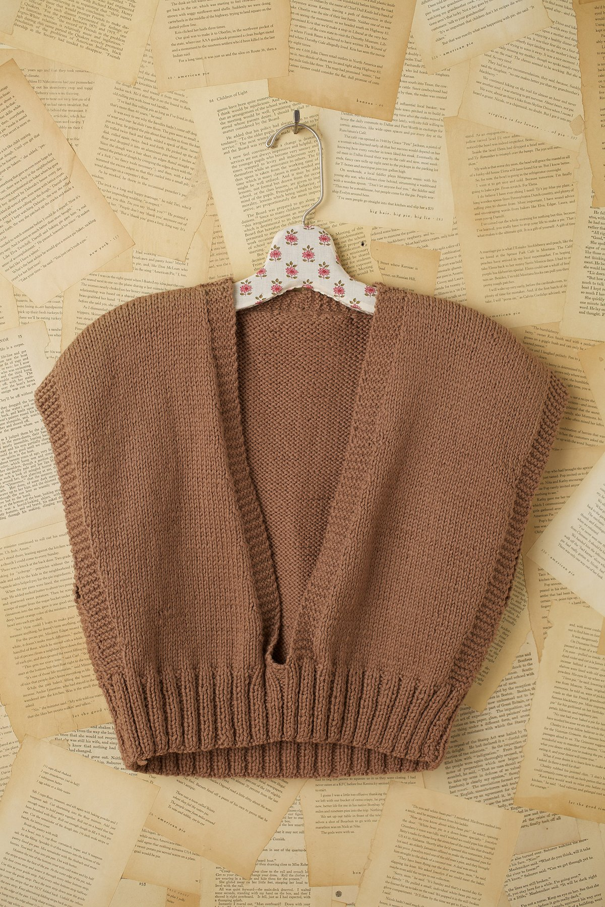 Vintage 1950s Paperbag Brown Sweater Vest