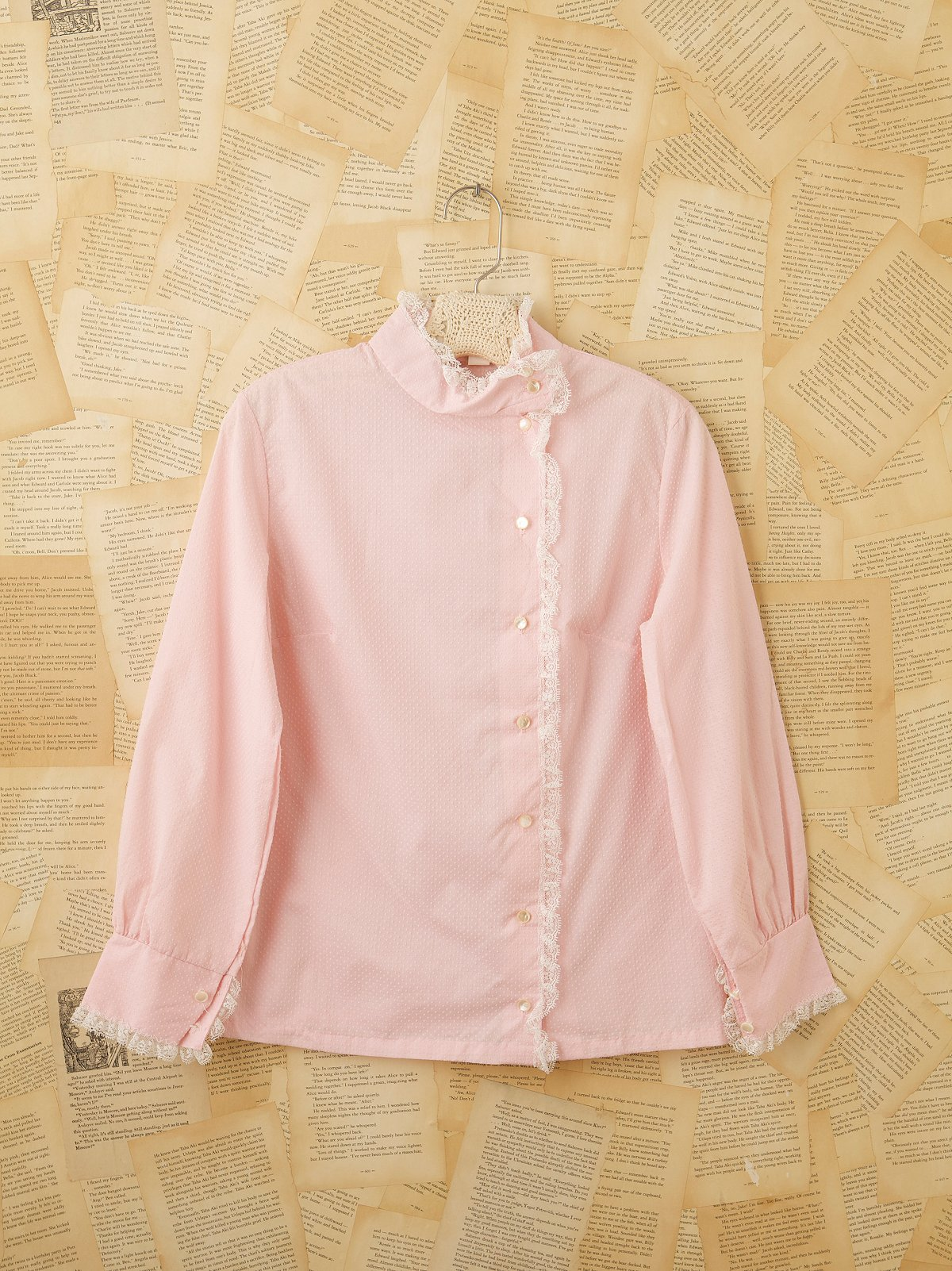 Vintage 1950s Pink Swiss Dot Blouse