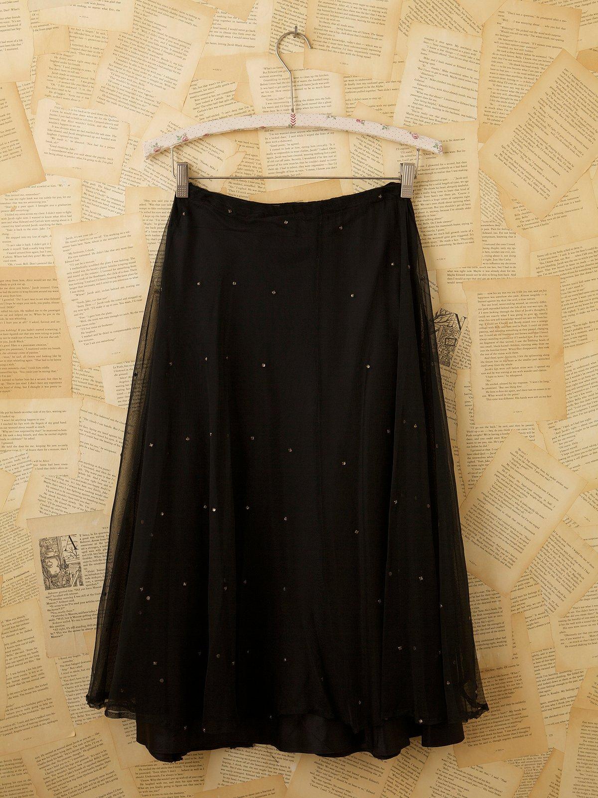 Vintage 1960s Bottom Net Skirt