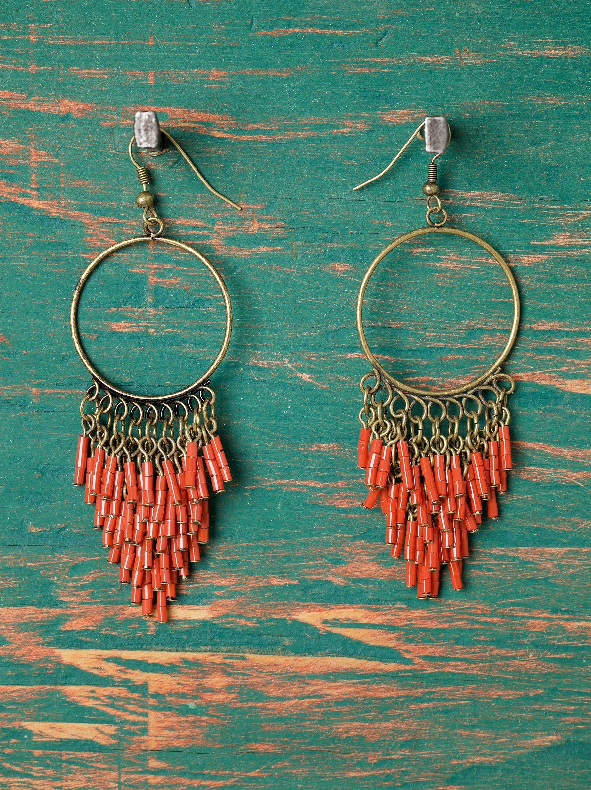 Amdo Beaded Hoops
