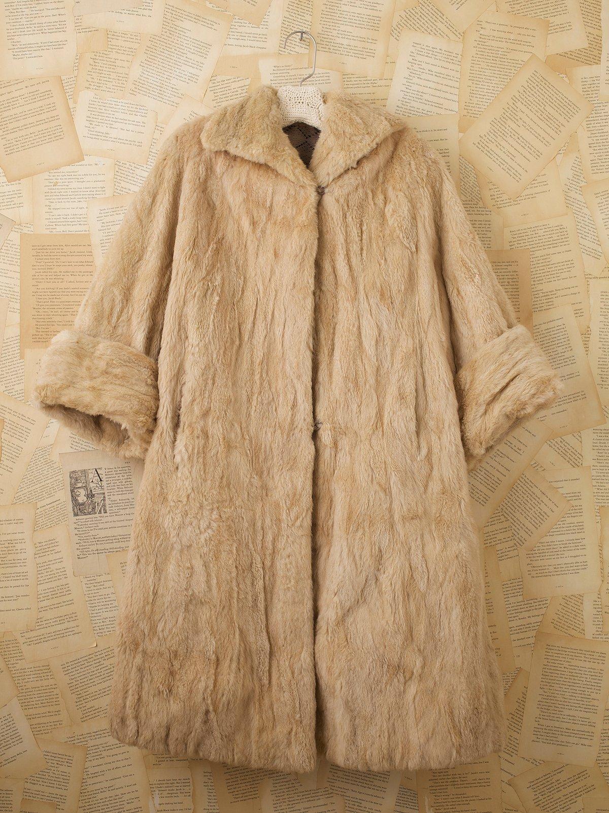 Vintage Winter Plush Coat