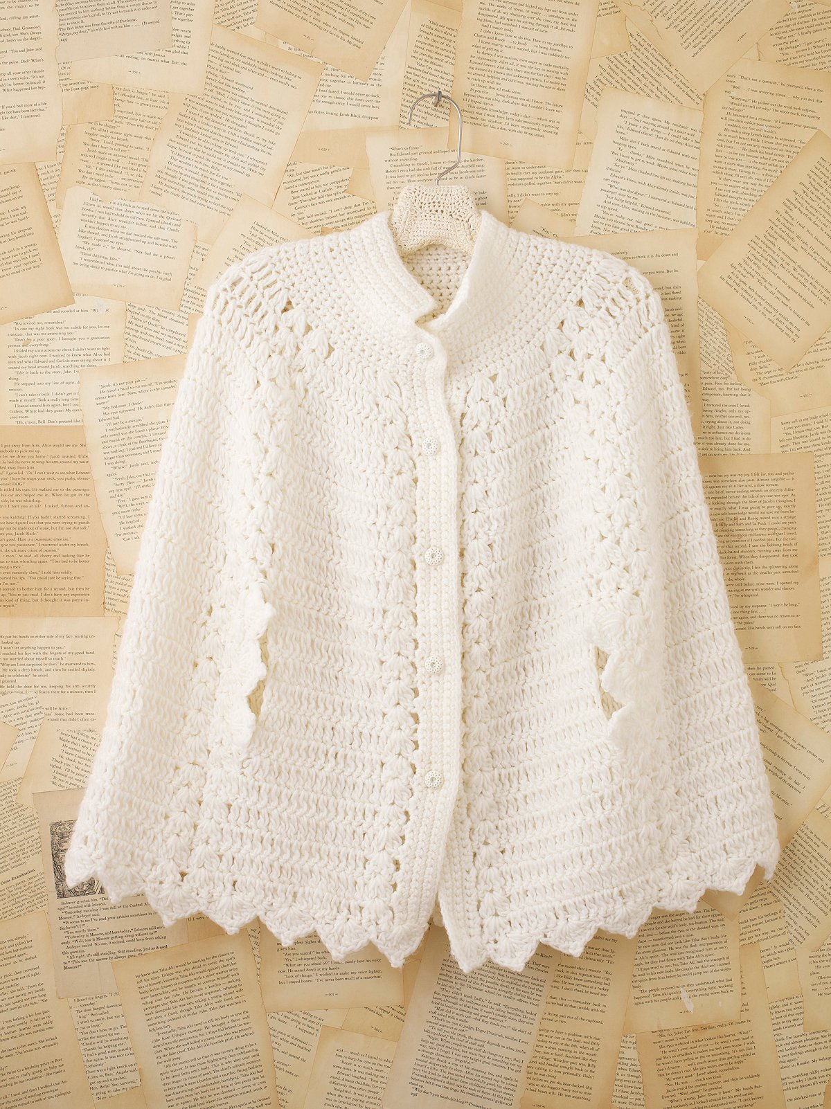 Vintage White Poncho