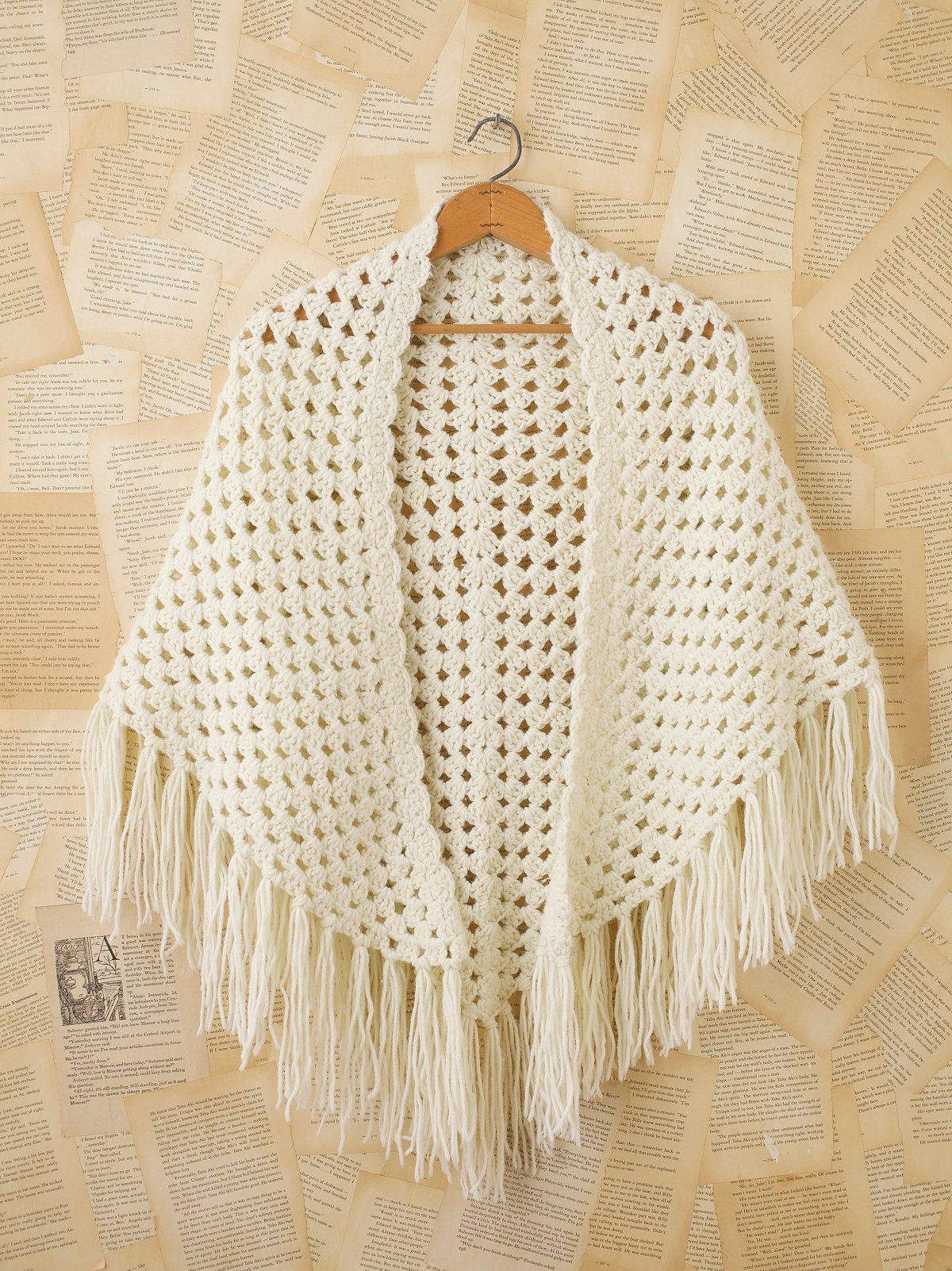 Vintage Granny Crochet Shawl