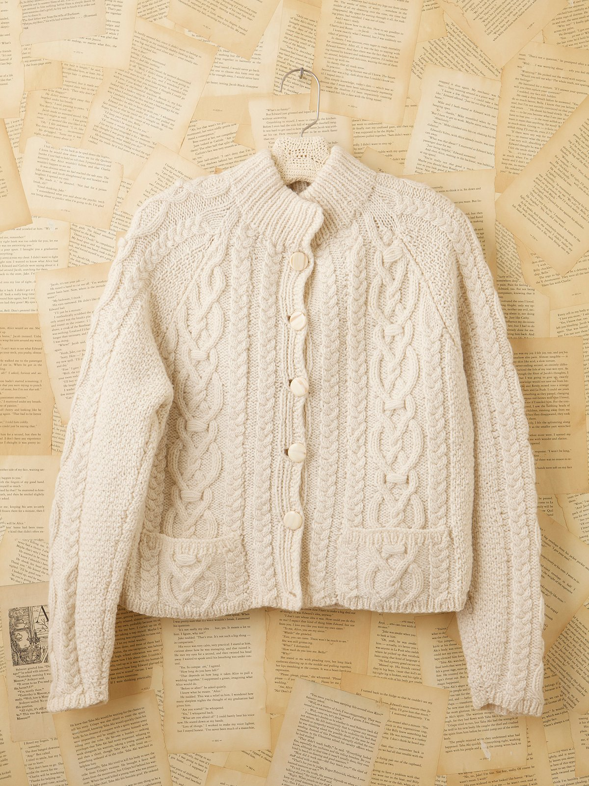 Vintage Cream Buttondown Sweater
