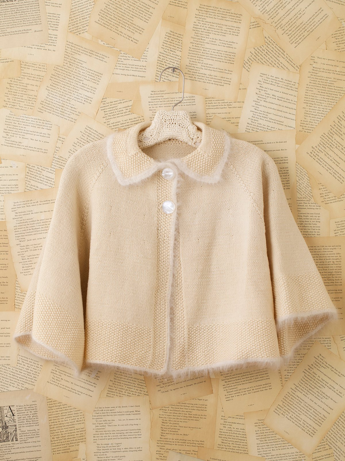 Vintage Cape With Angora Collar