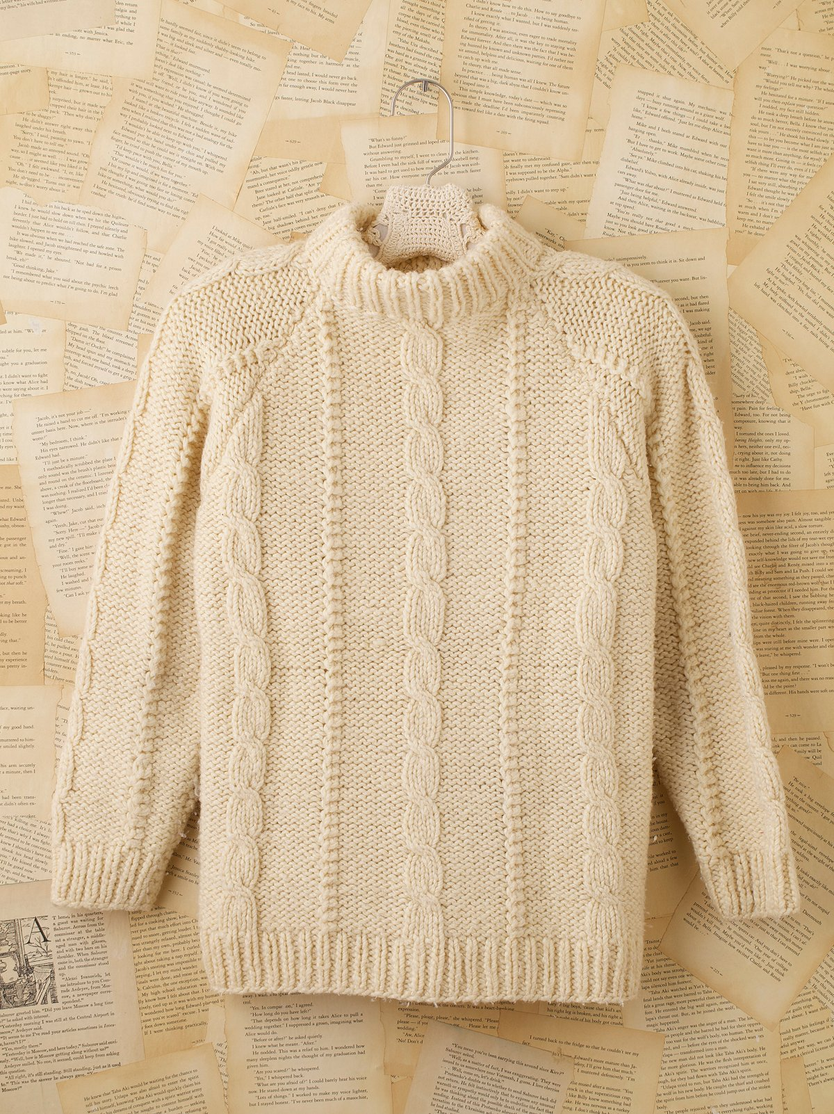 Vintage Fisherman's Sweater With Turtleneck
