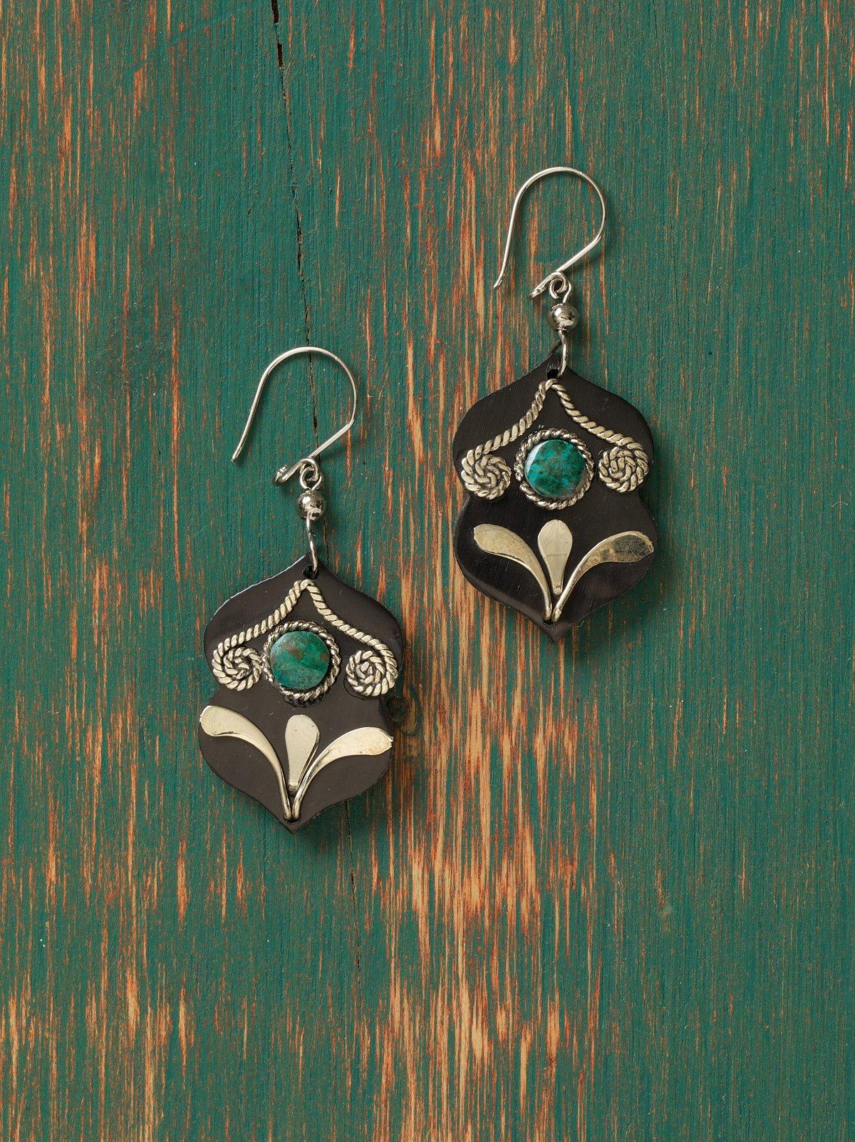 Tibetan Drop Earrings