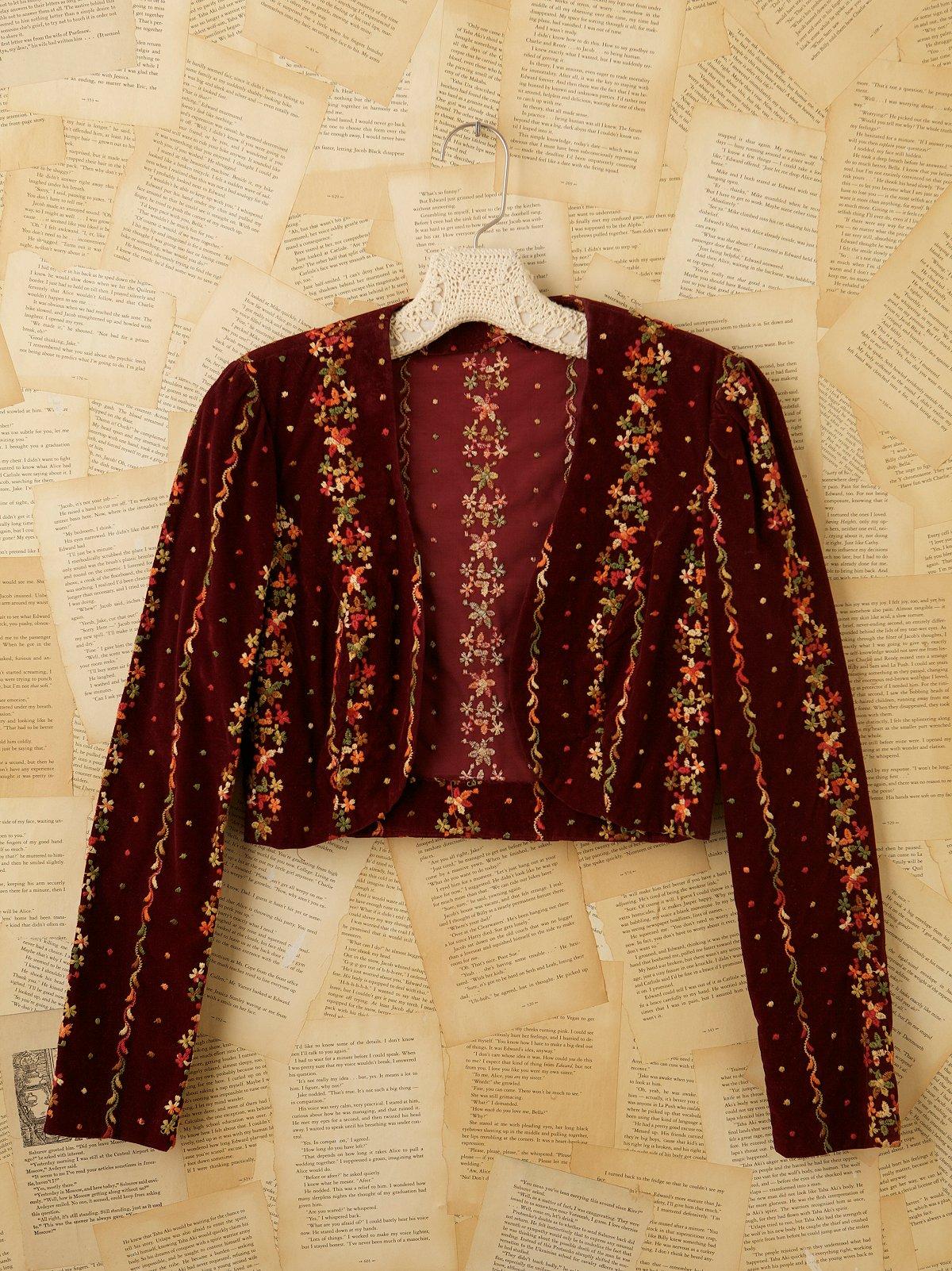 Vintage Velvet Crop Jacket