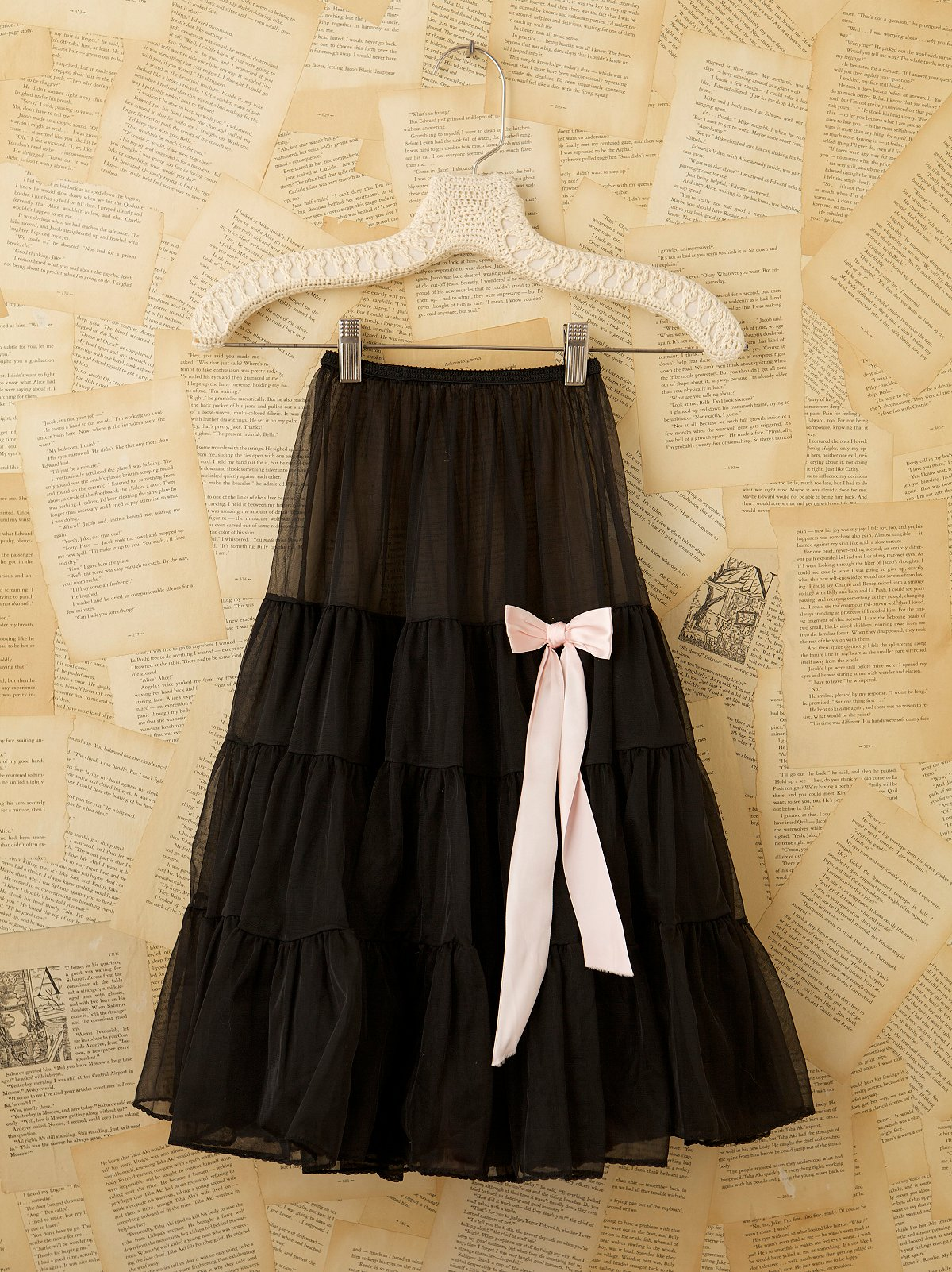 Vintage Black Net Skirt