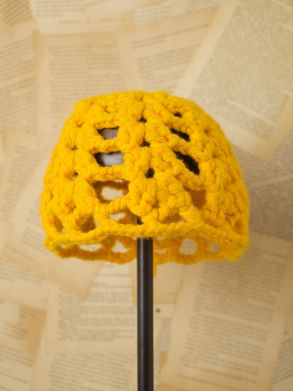 Vintage Yellow Knit Hat