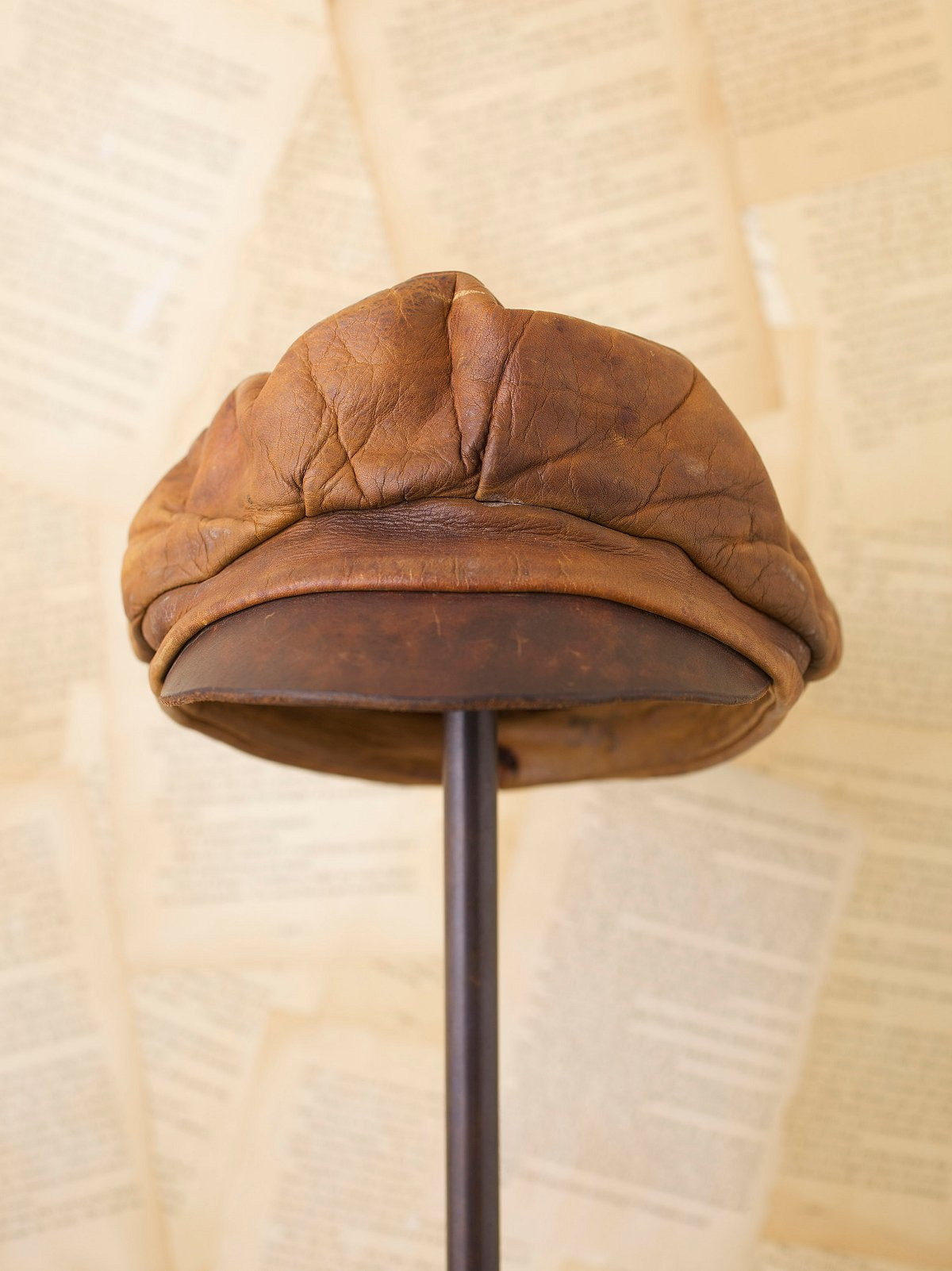Vintage Brown Leather Cap