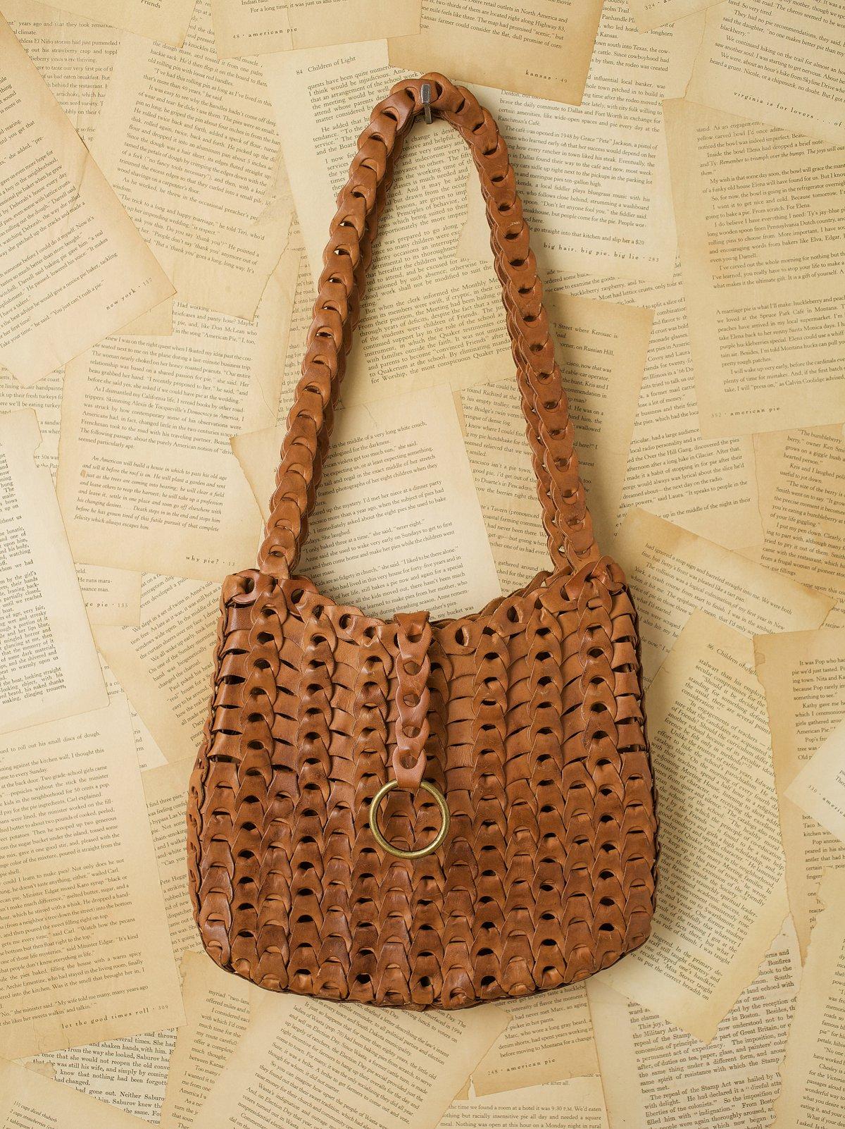 Vintage Brown Link Shoulder Bag