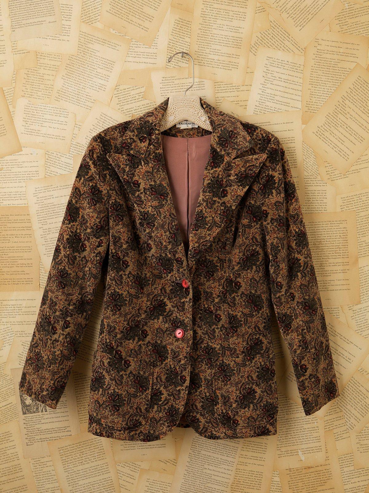 Vintage 1970s Cotton Paisley Jacket