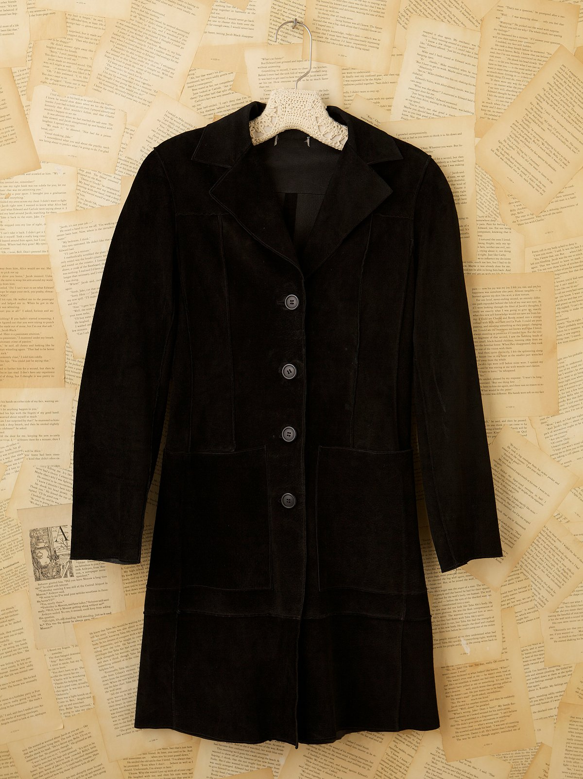Vintage 70s Black Glove Leather Coat