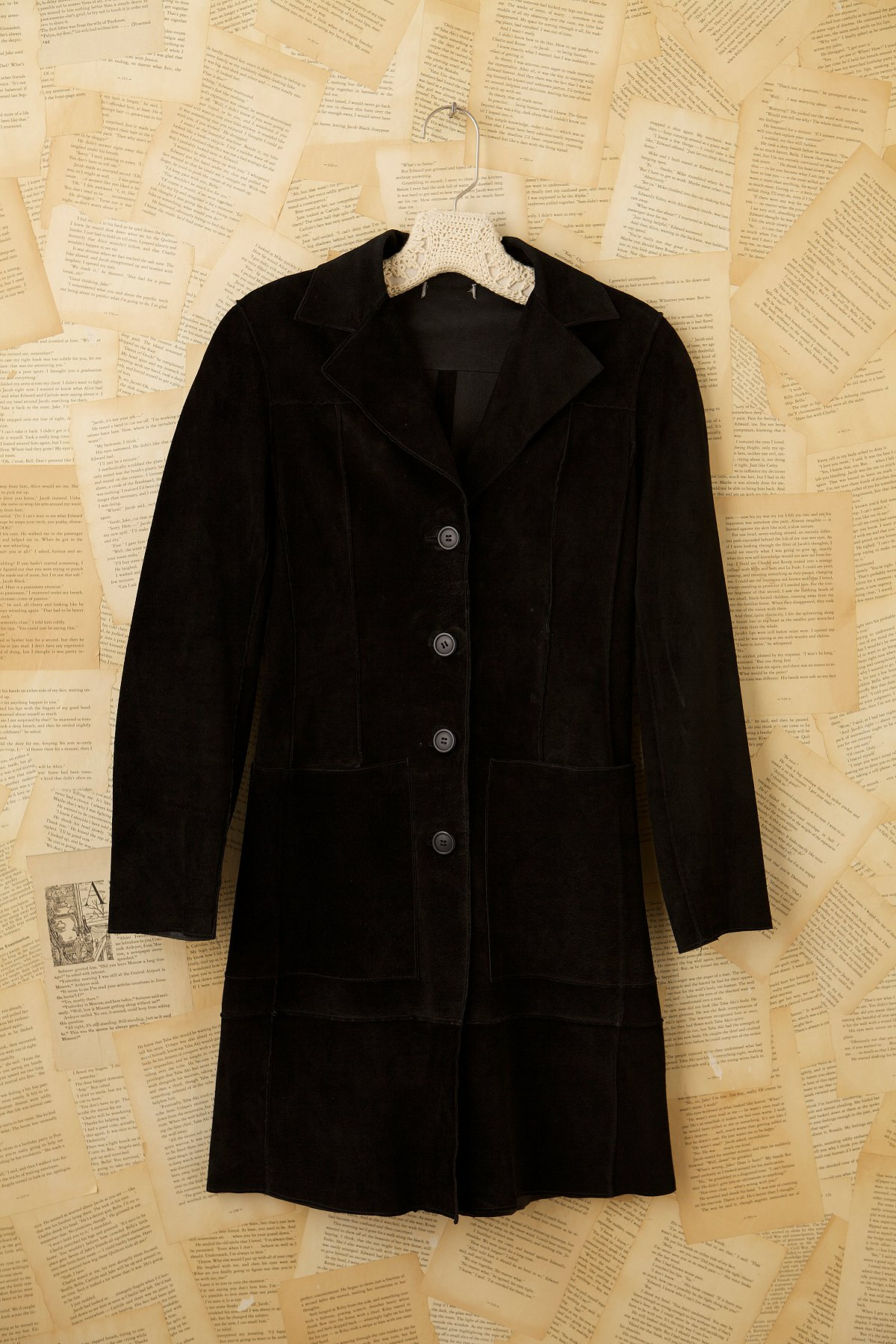 Vintage 70s Black Glove Leather Coat