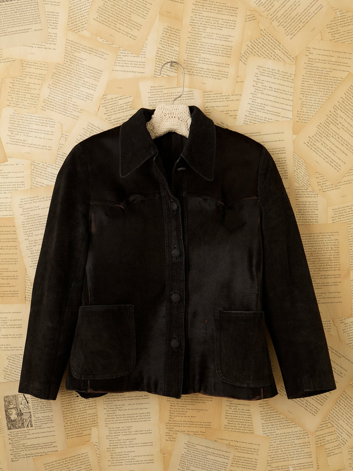 Vintage Black Shirt Jacket