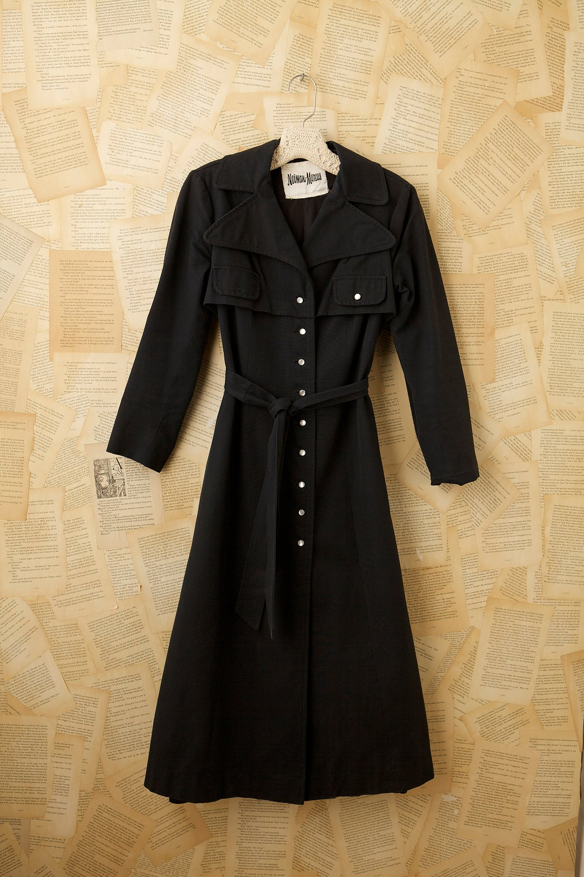 Vintage Embroidered Trench Coat