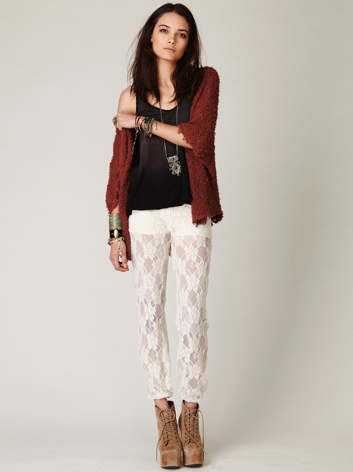 Lace Pull On Pant