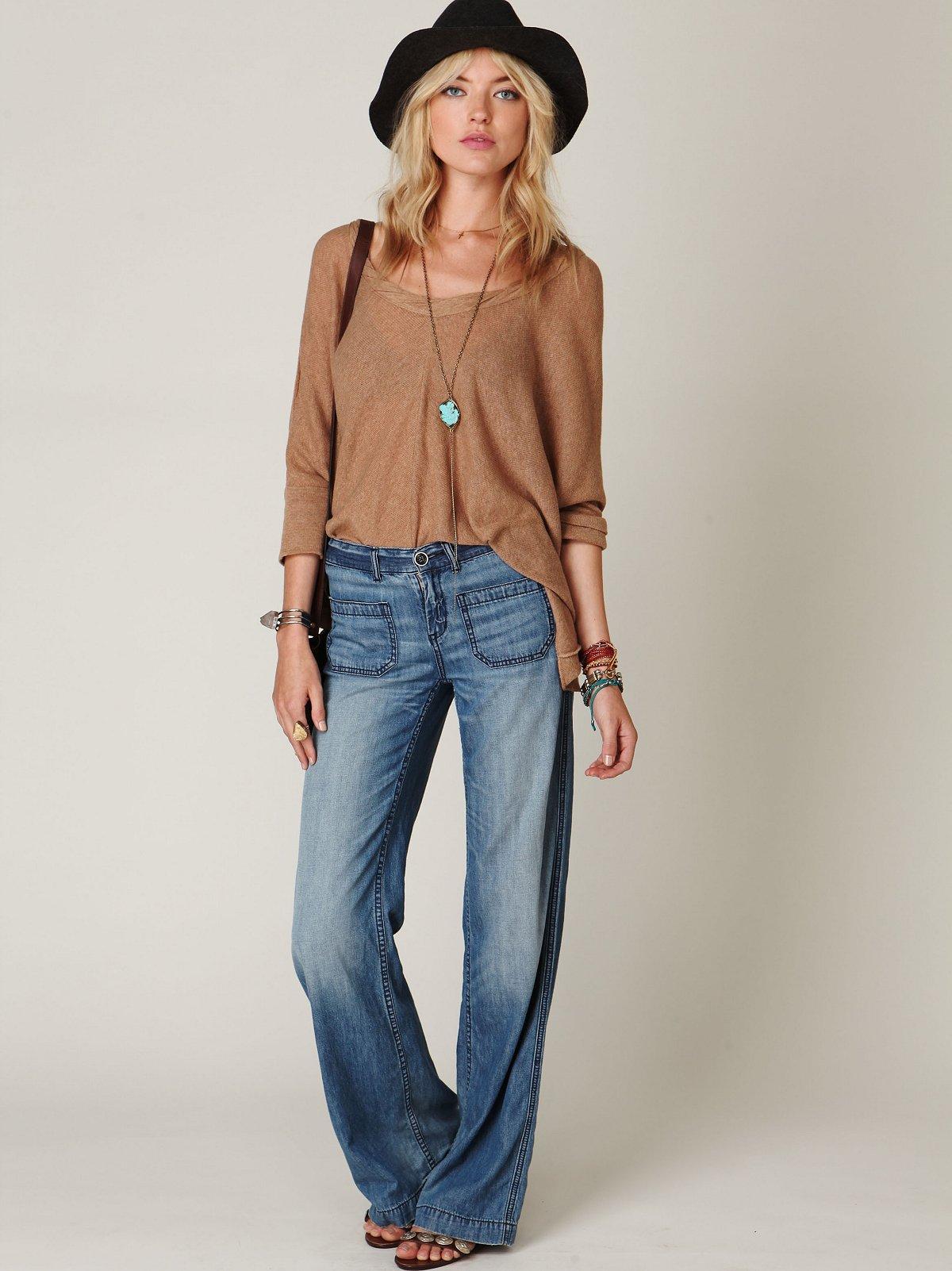 Wideleg Patch Pocket Jean