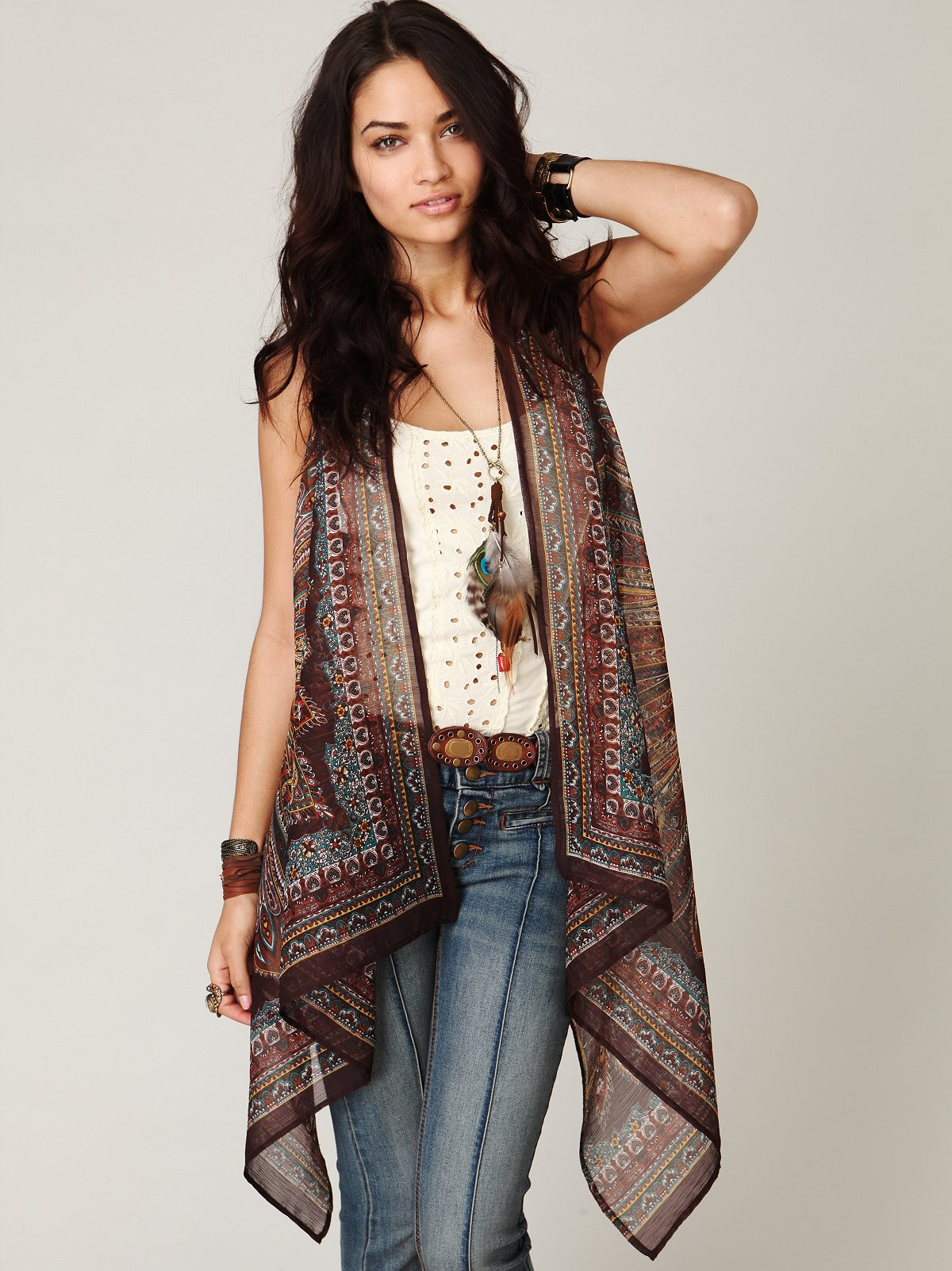 FP ONE Paisley Scarf Vest