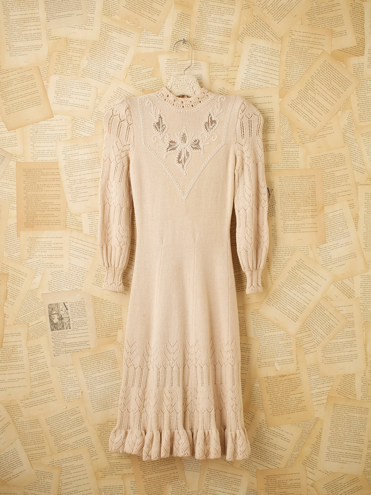 Vintage Ivory Sweater Dress
