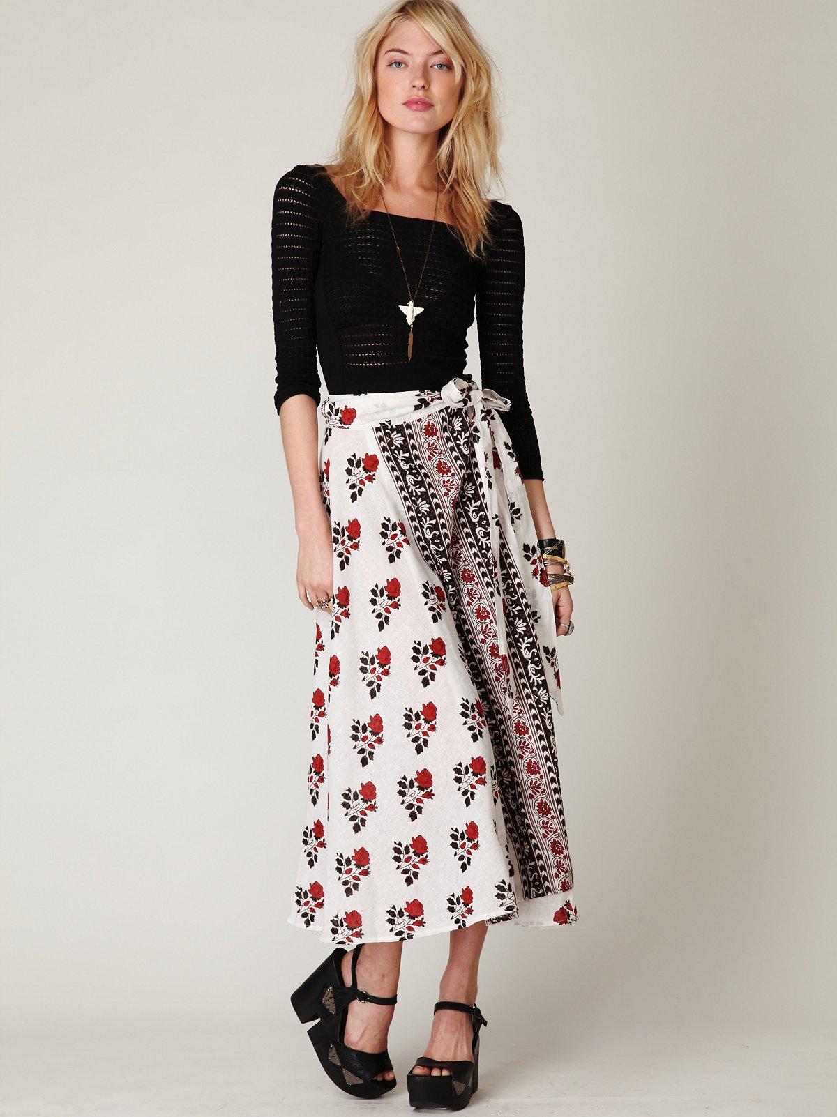 Cantina Wrap Maxi Skirt