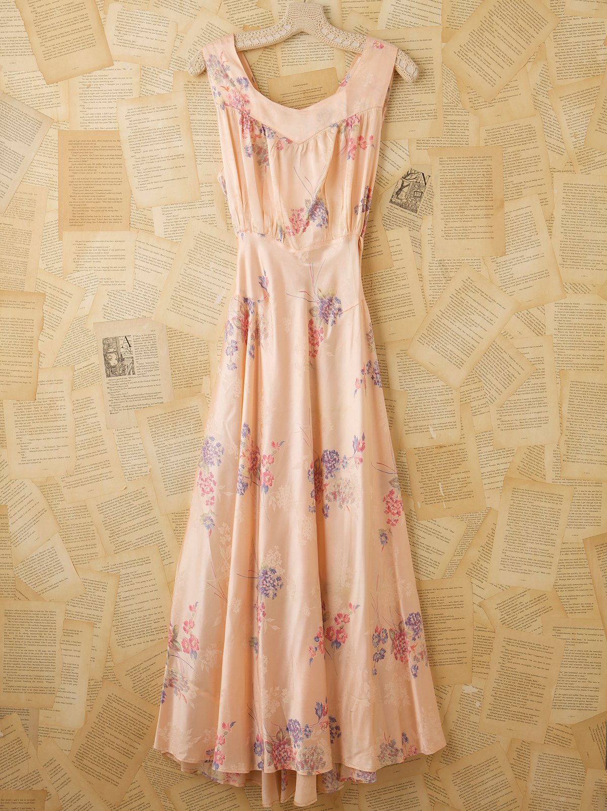 Vintage Printed Slip Dress