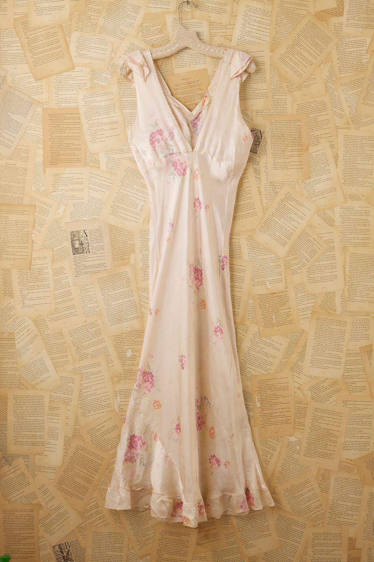 Vintage Printed Slip Dress
