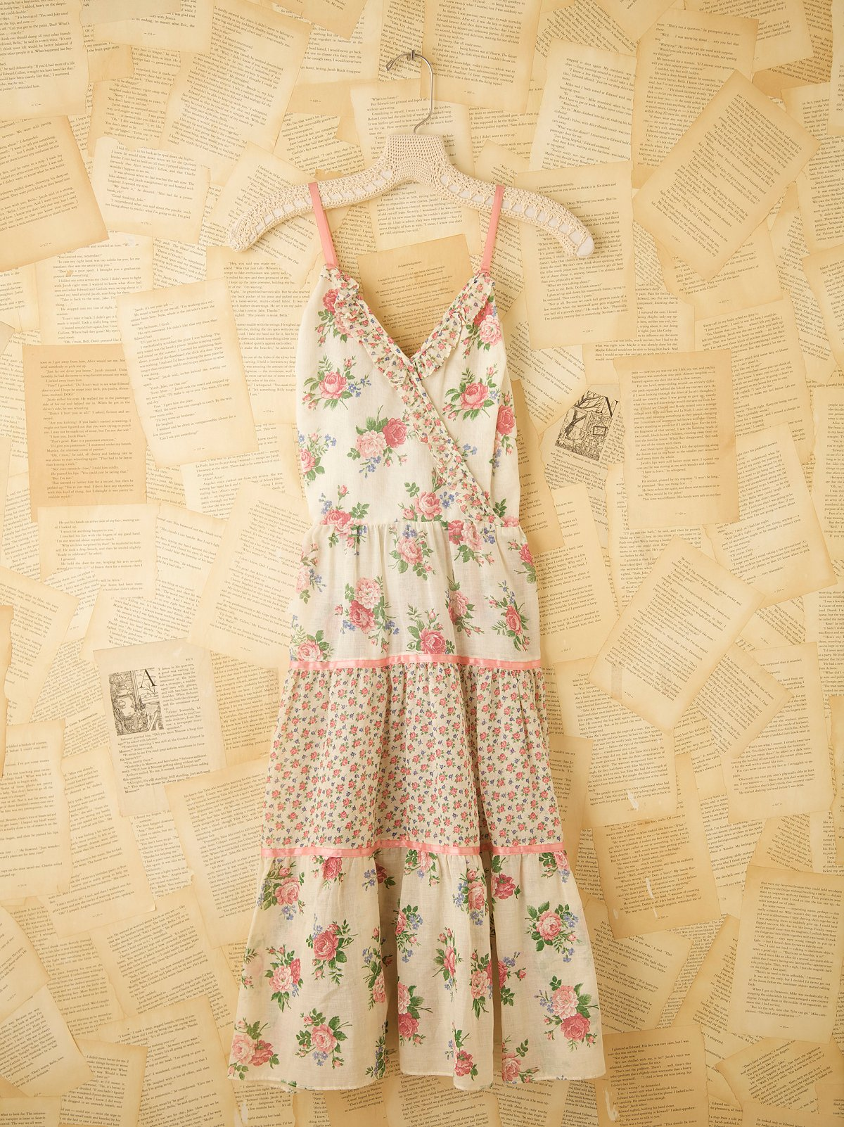 Vintage Print Babydoll Dress