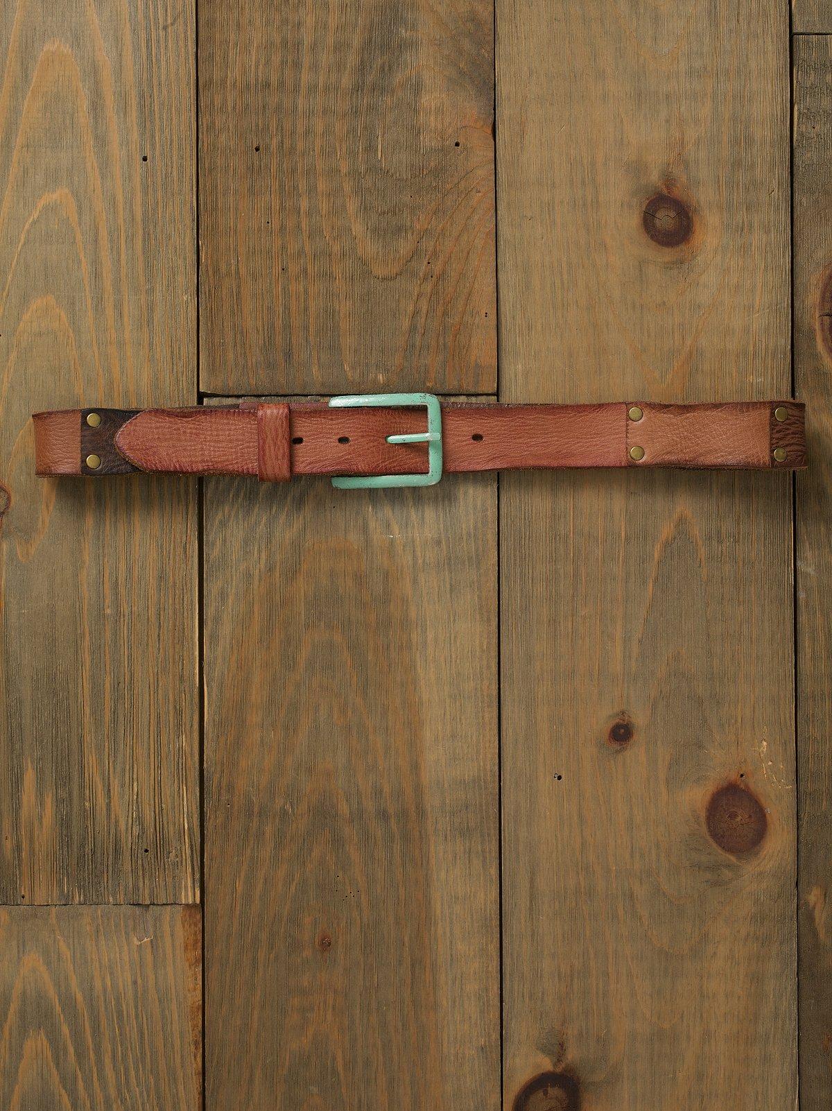 Patina Patched Belt