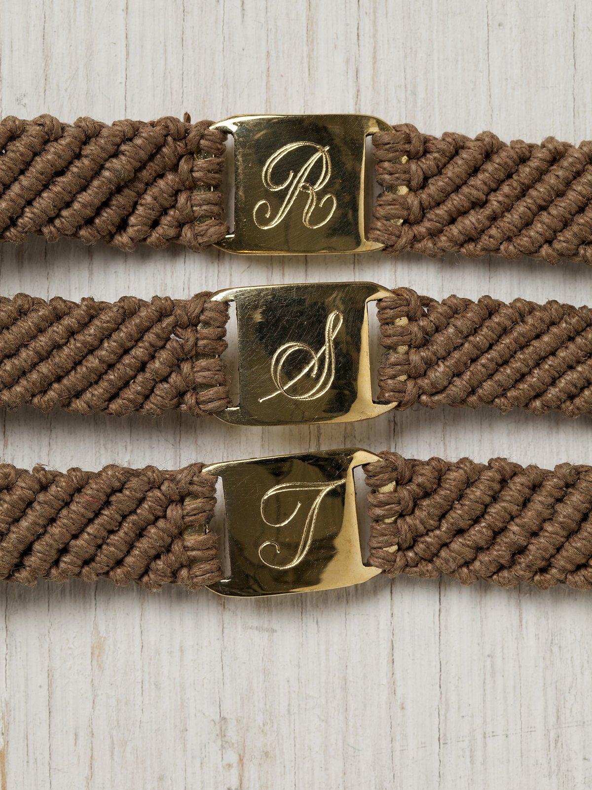 Woven Initial Bracelet