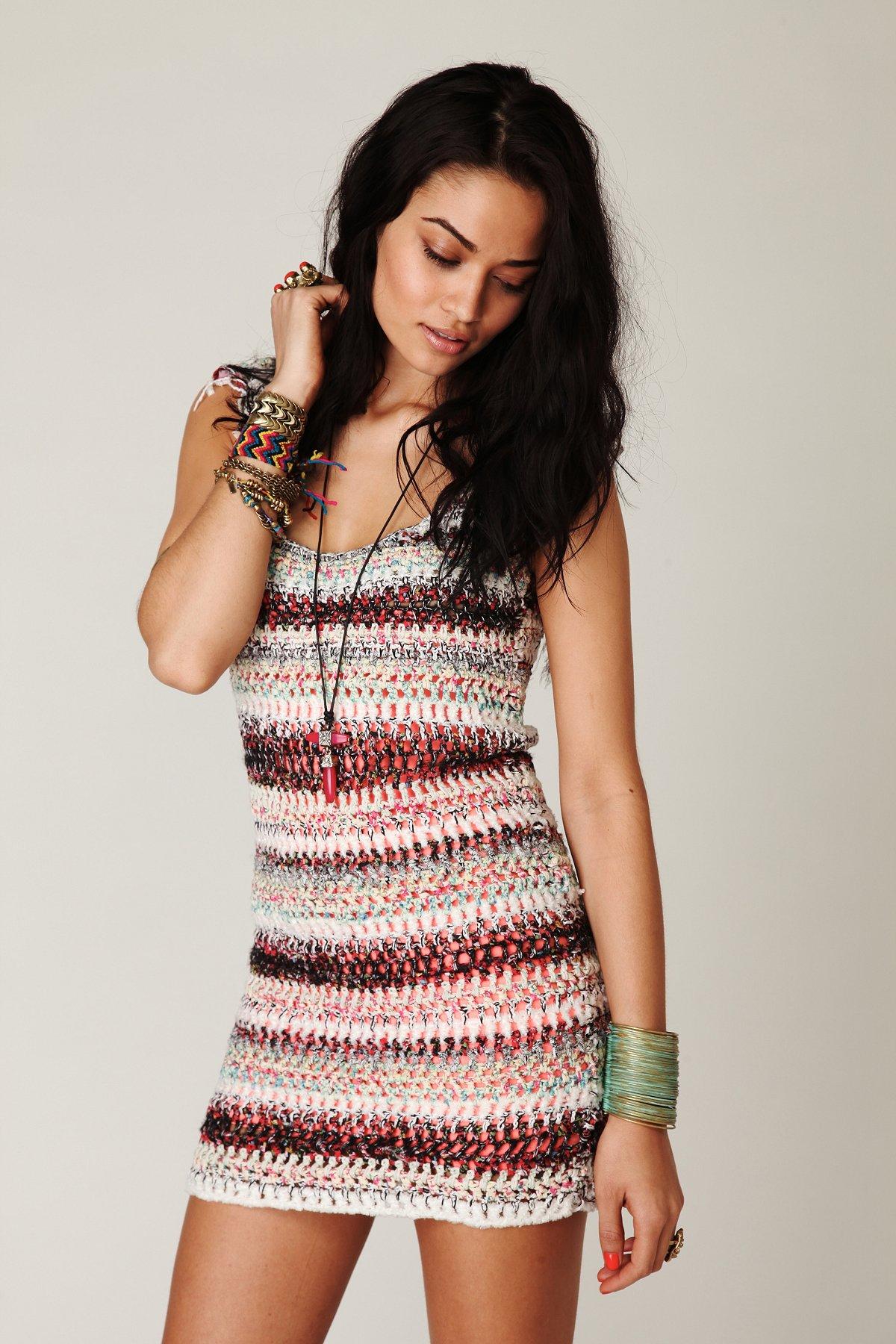 FP New Romantics Sweater Fringe Dress
