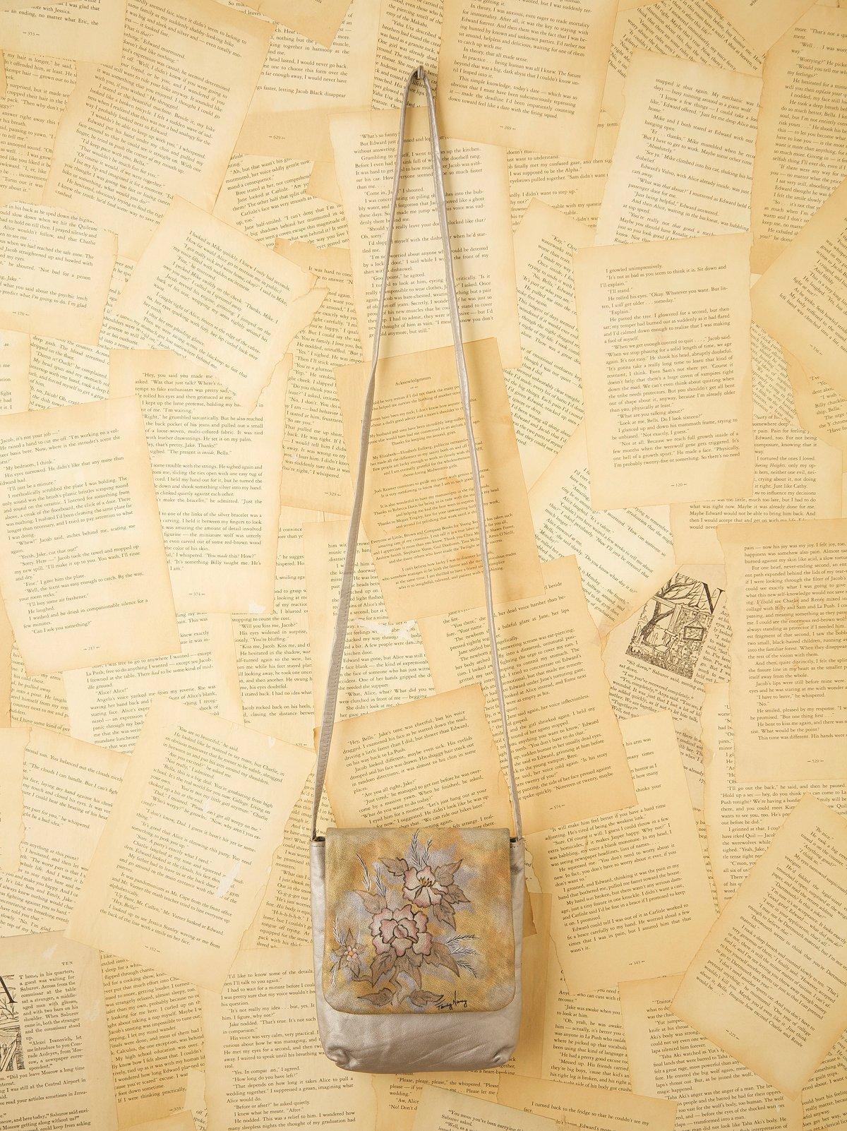 Vintage Hand Painted Metallic Bag