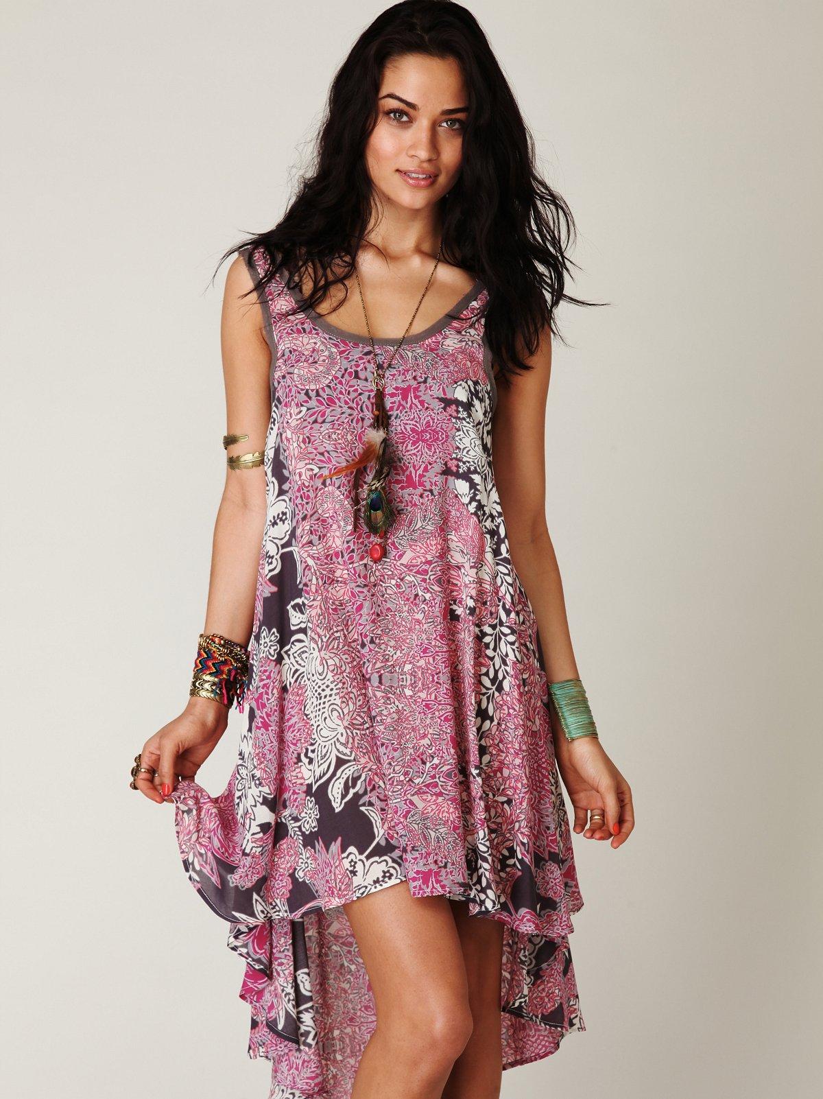 Swing Printed Tank Dress