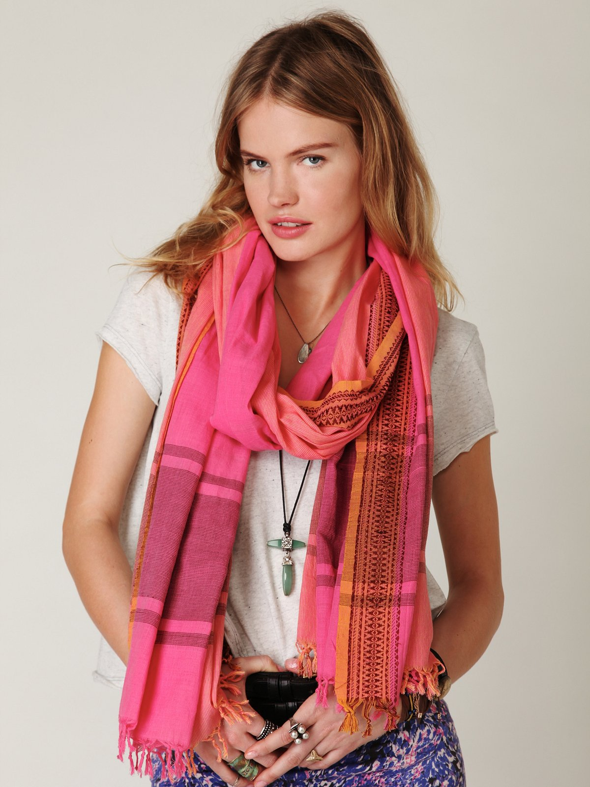 Tribal Ikat Scarf