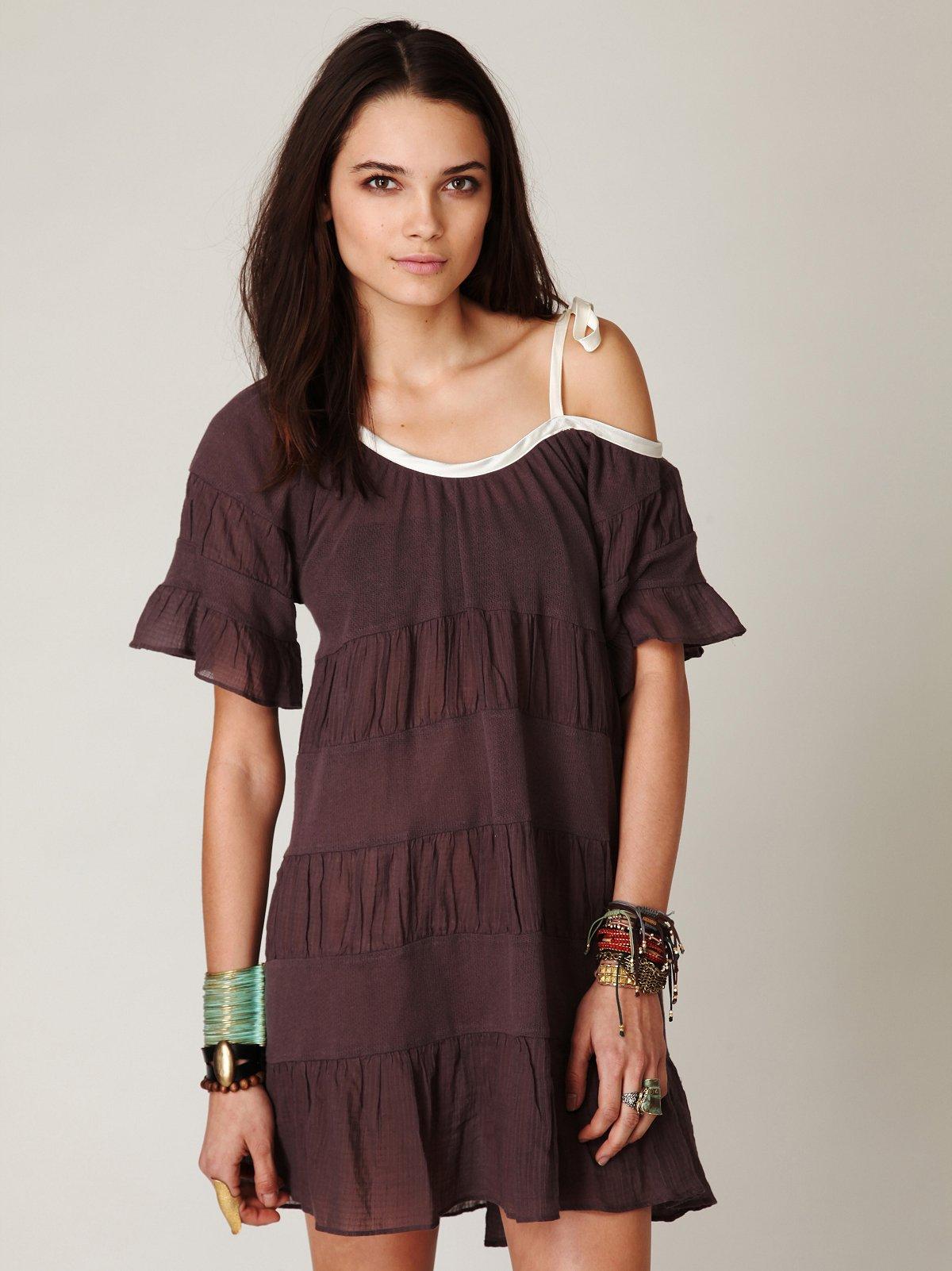 Textured Hi-Low Tunic Dress