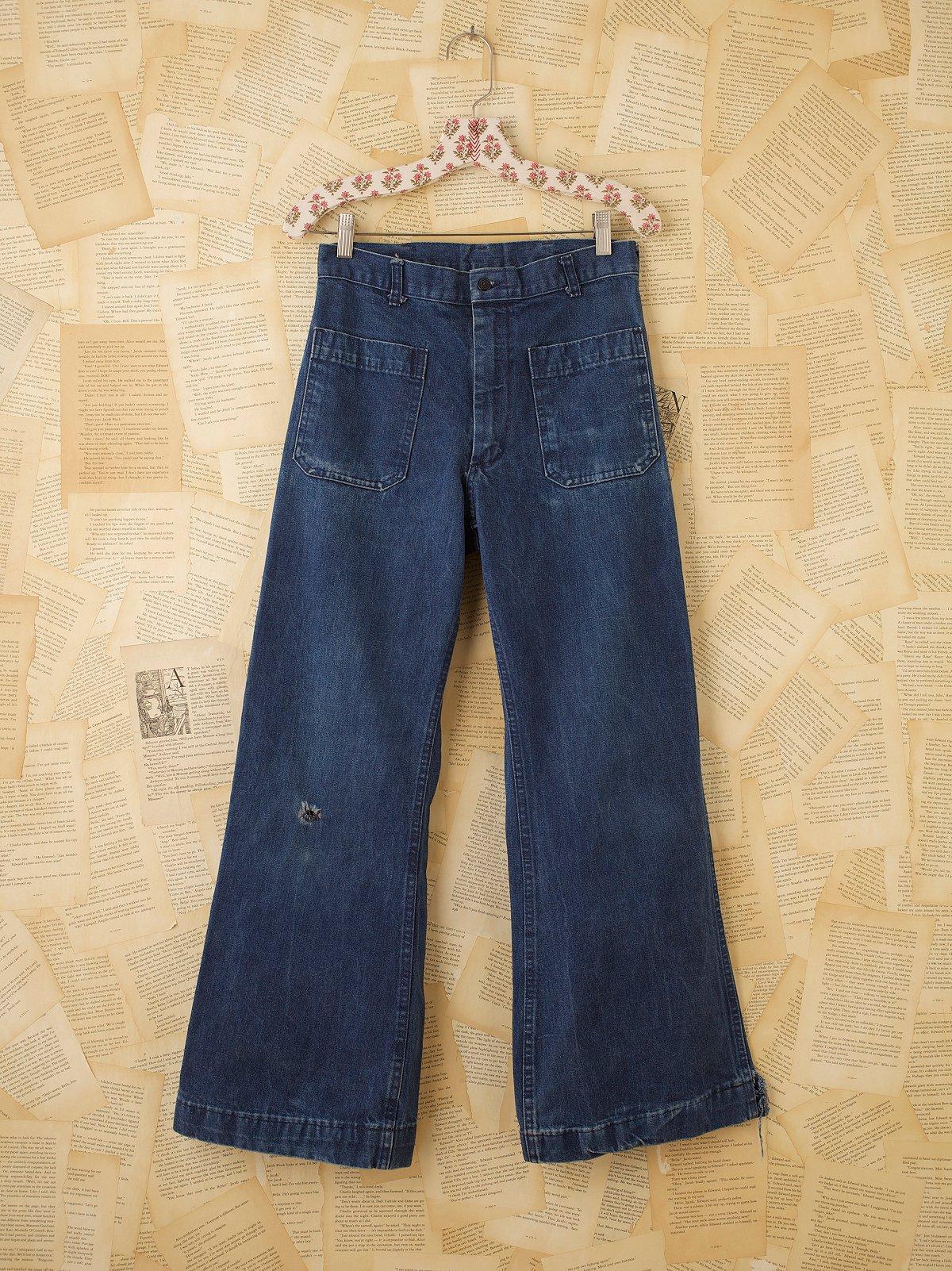 Vintage Navy Bellbottom Jeans