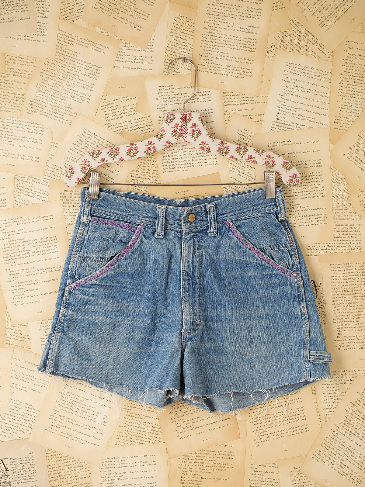 Vintage Lee Denim Cutoff Carpenter Shorts