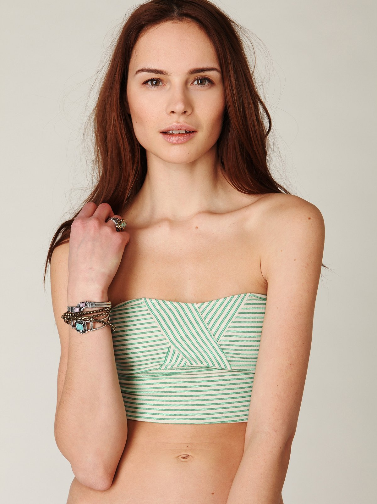 Crossover Stripes Bandeau