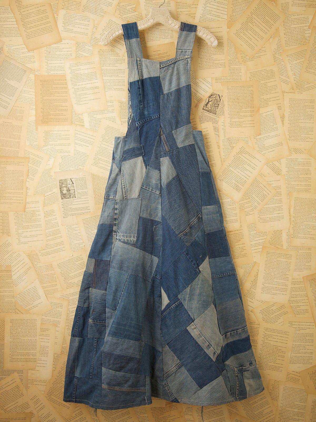 Vintage Patched Denim Dress