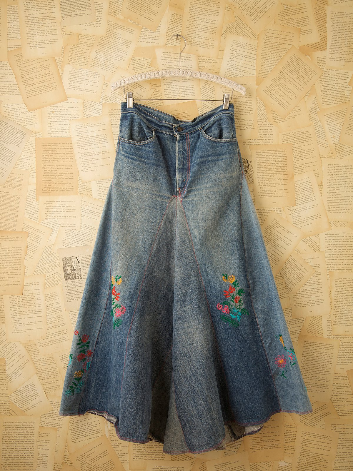 Vintage Embroidered Carol Skirt