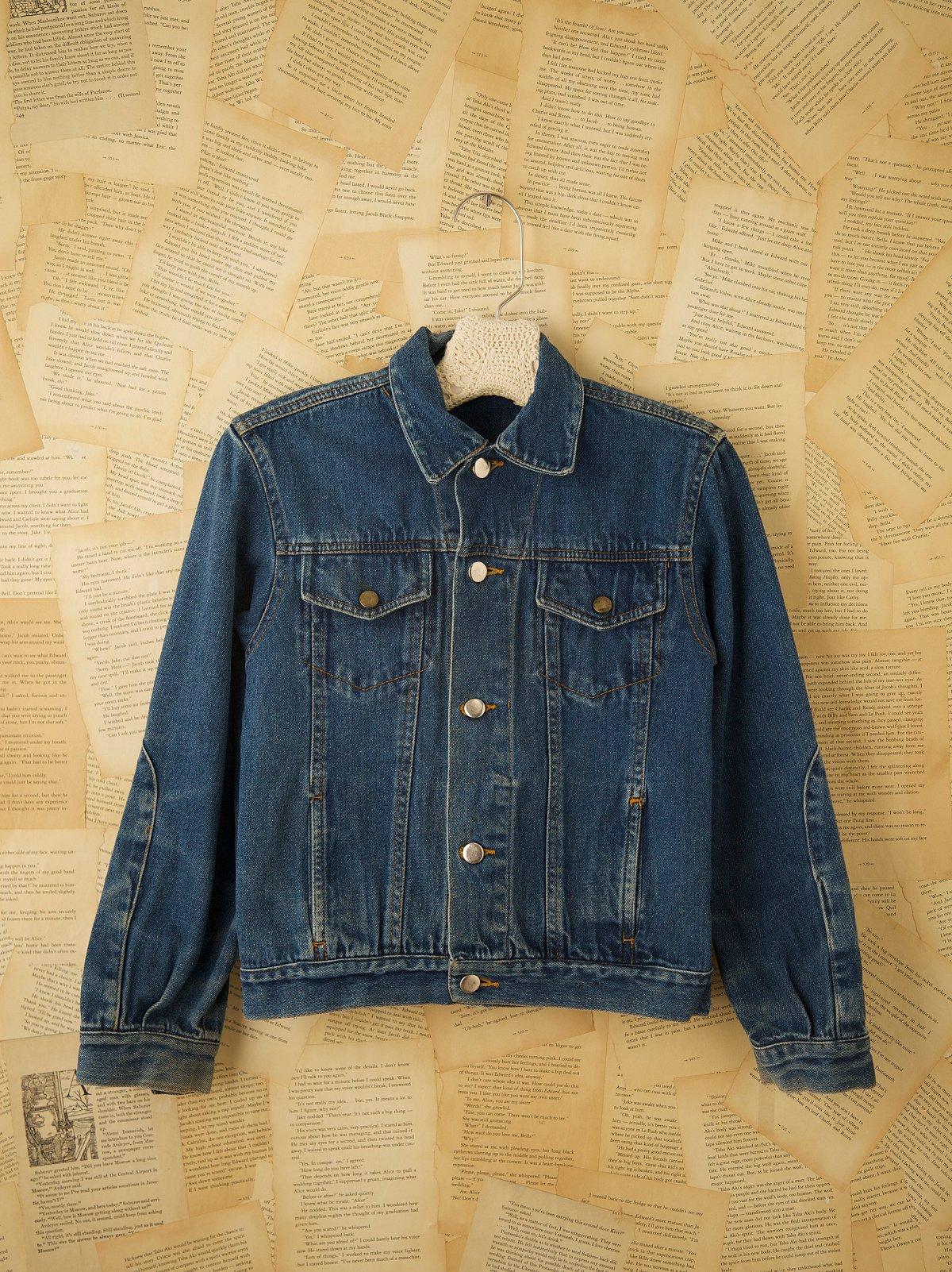 Vintage Moto Style Denim Jacket
