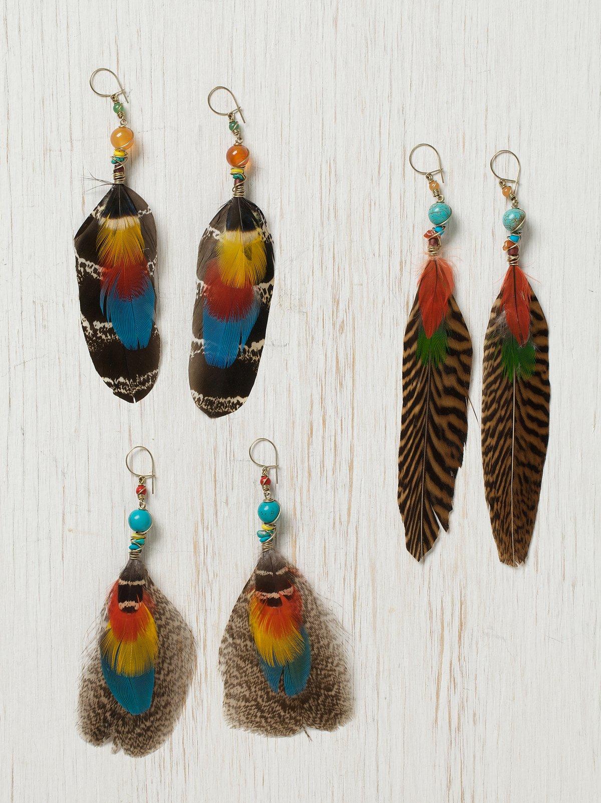Serrano Feather Earring