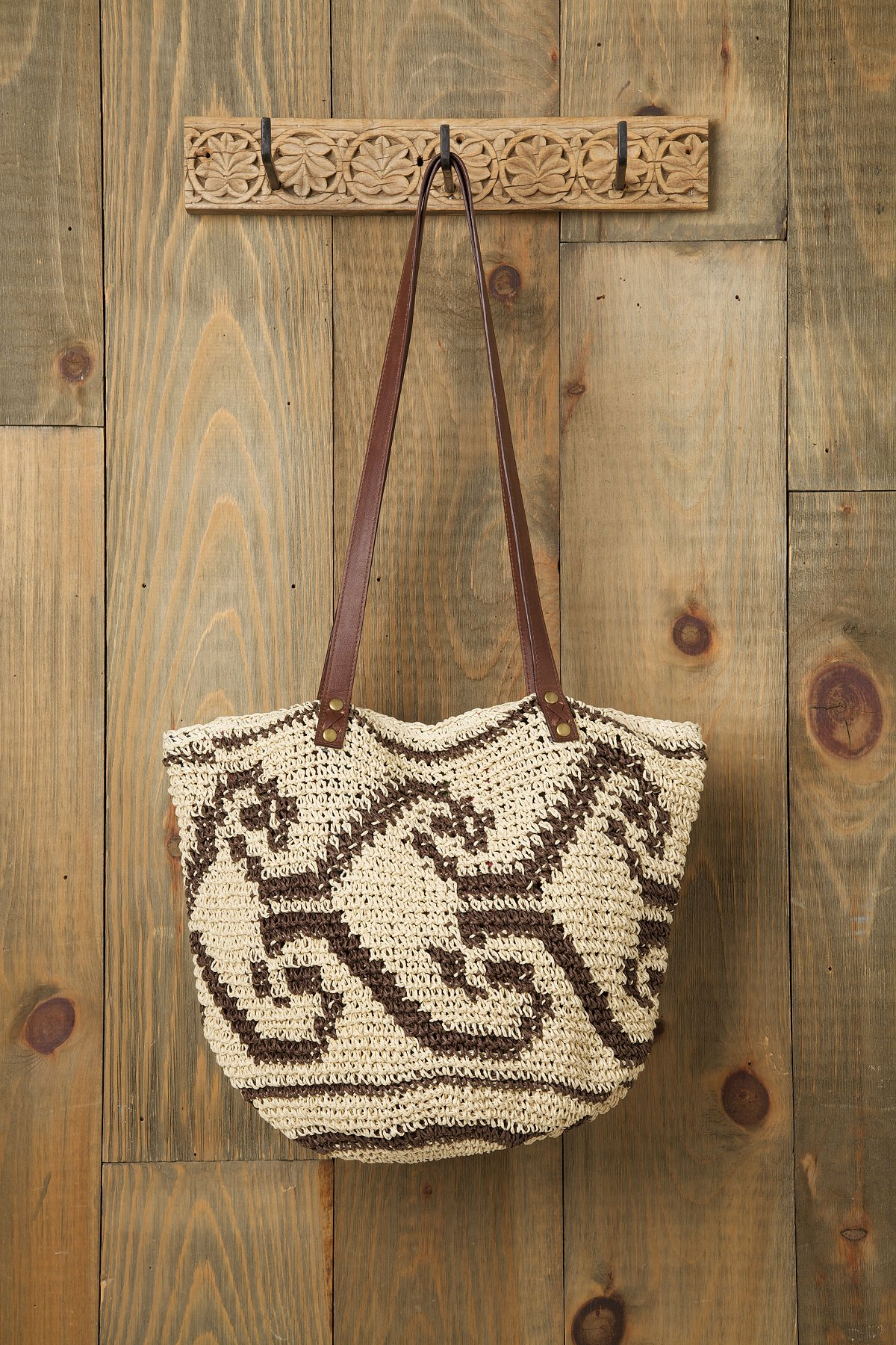 Arrow Straw Beach Tote