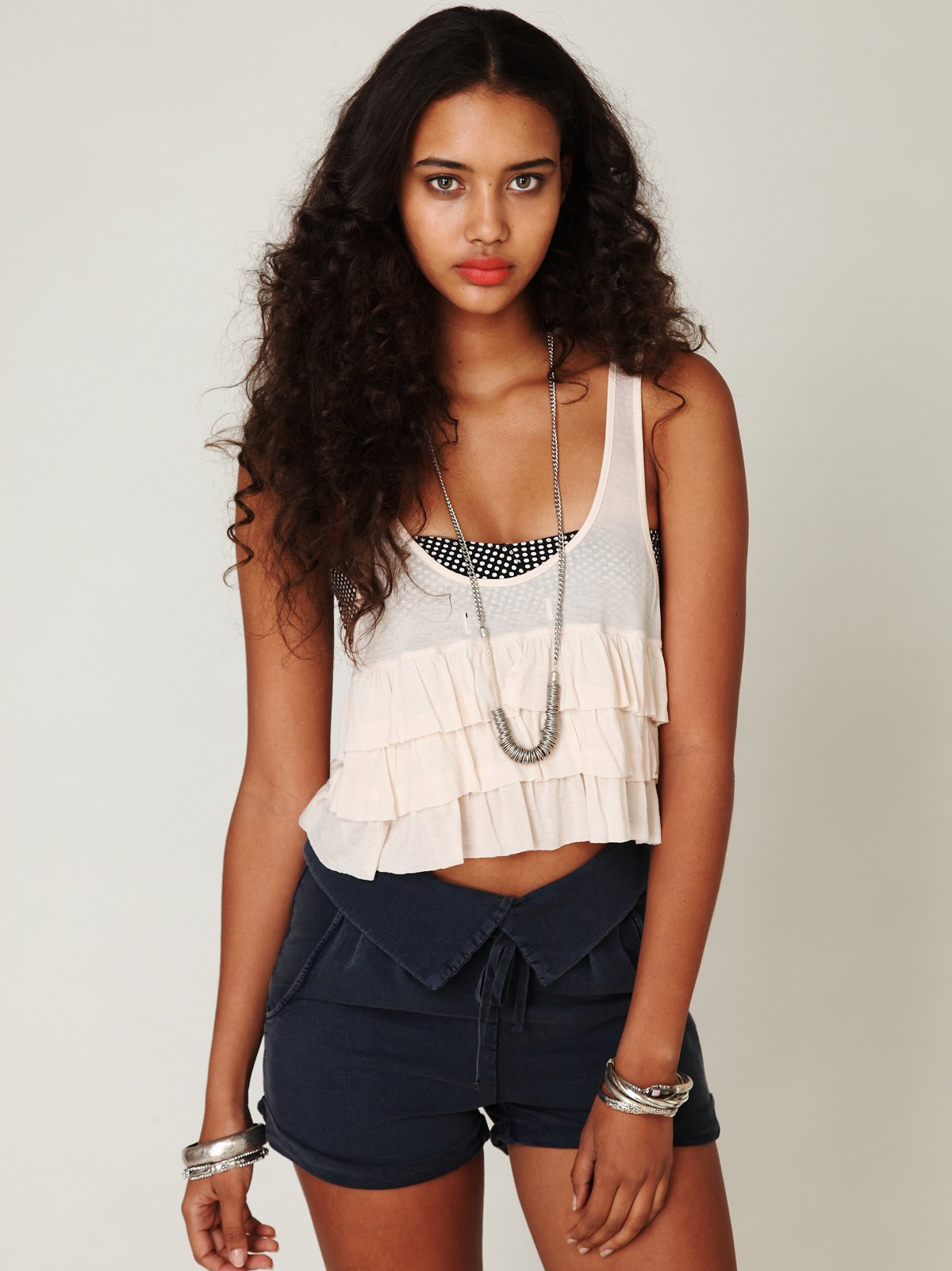 In the Crop Ruffle Top