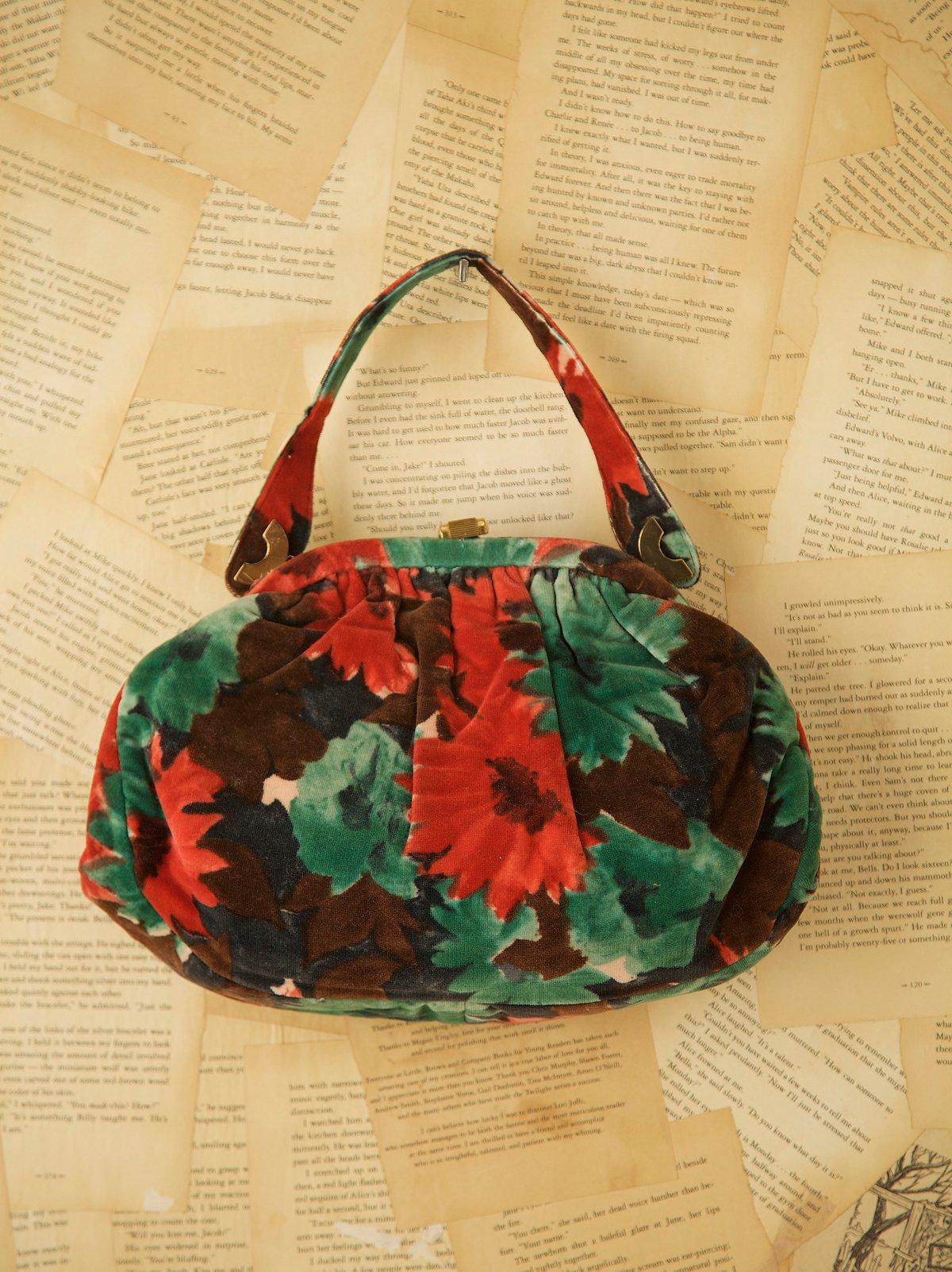 Vintage Printed Velvet Bag