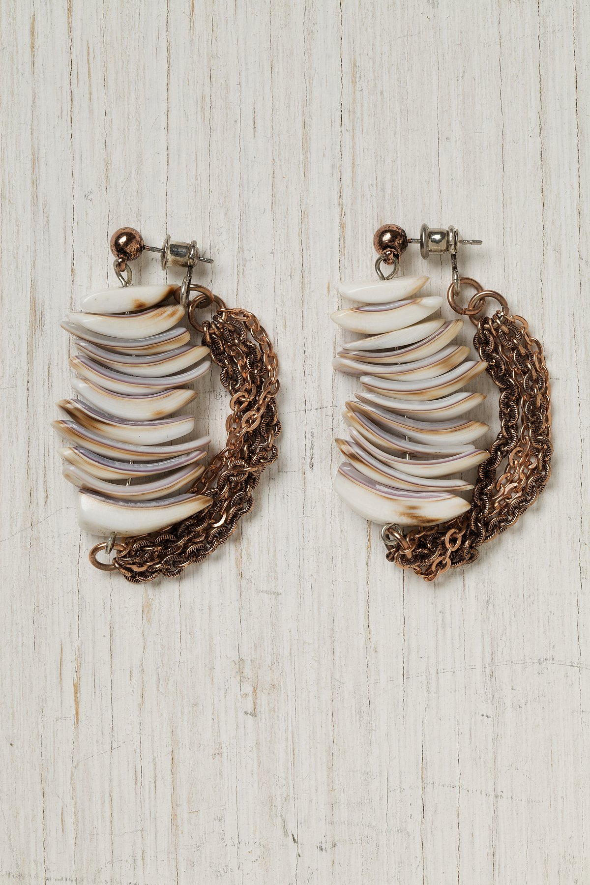Stacked Shell Earring