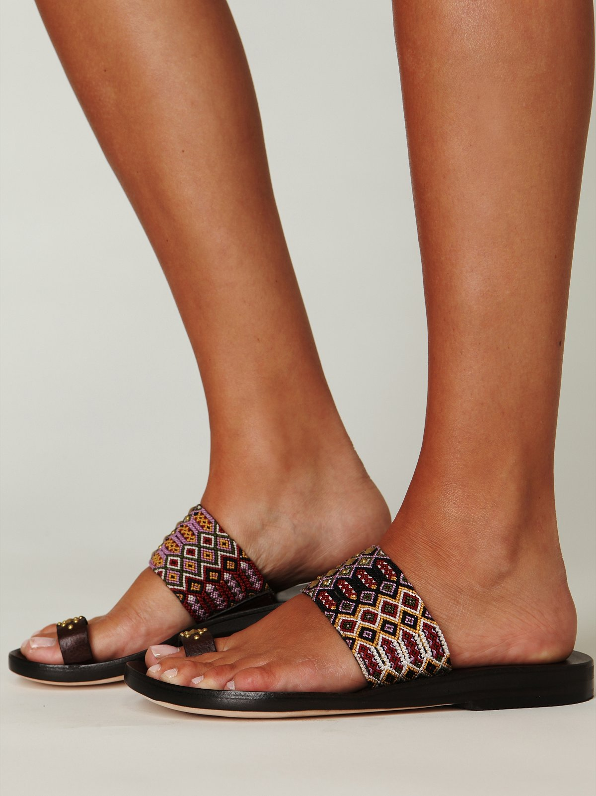 Papi Embroidered Sandal