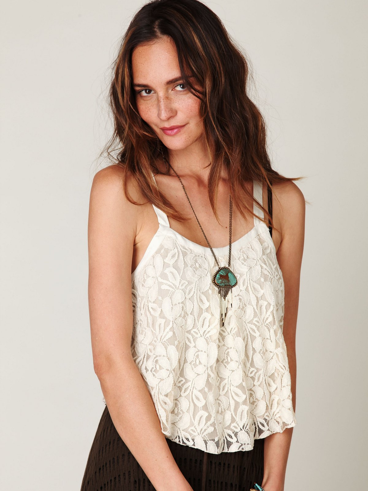 Lace Cropped Tank